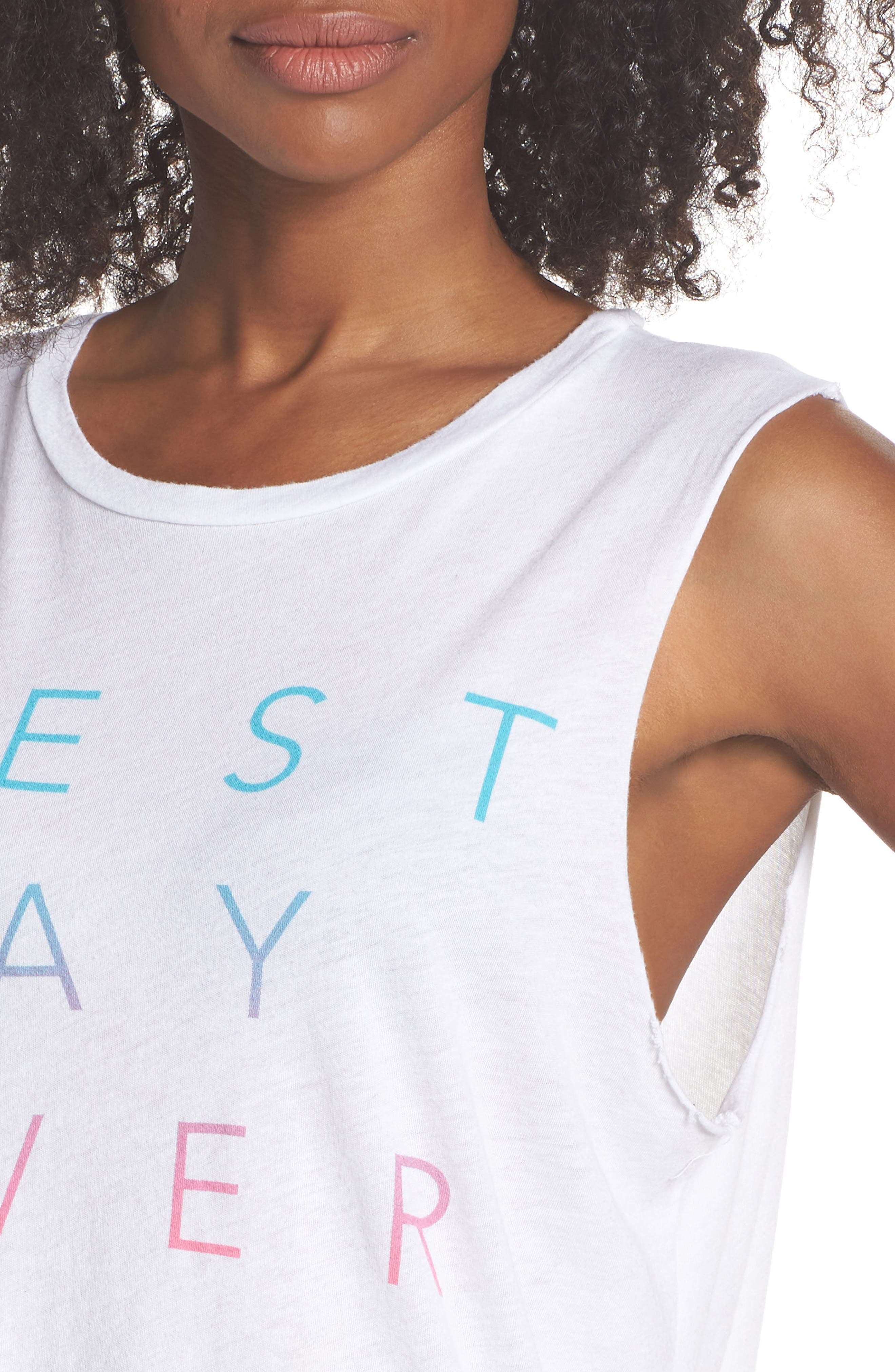 Lili Best Day Ever Crop Tank,                             Alternate thumbnail 4, color,                             Optic White