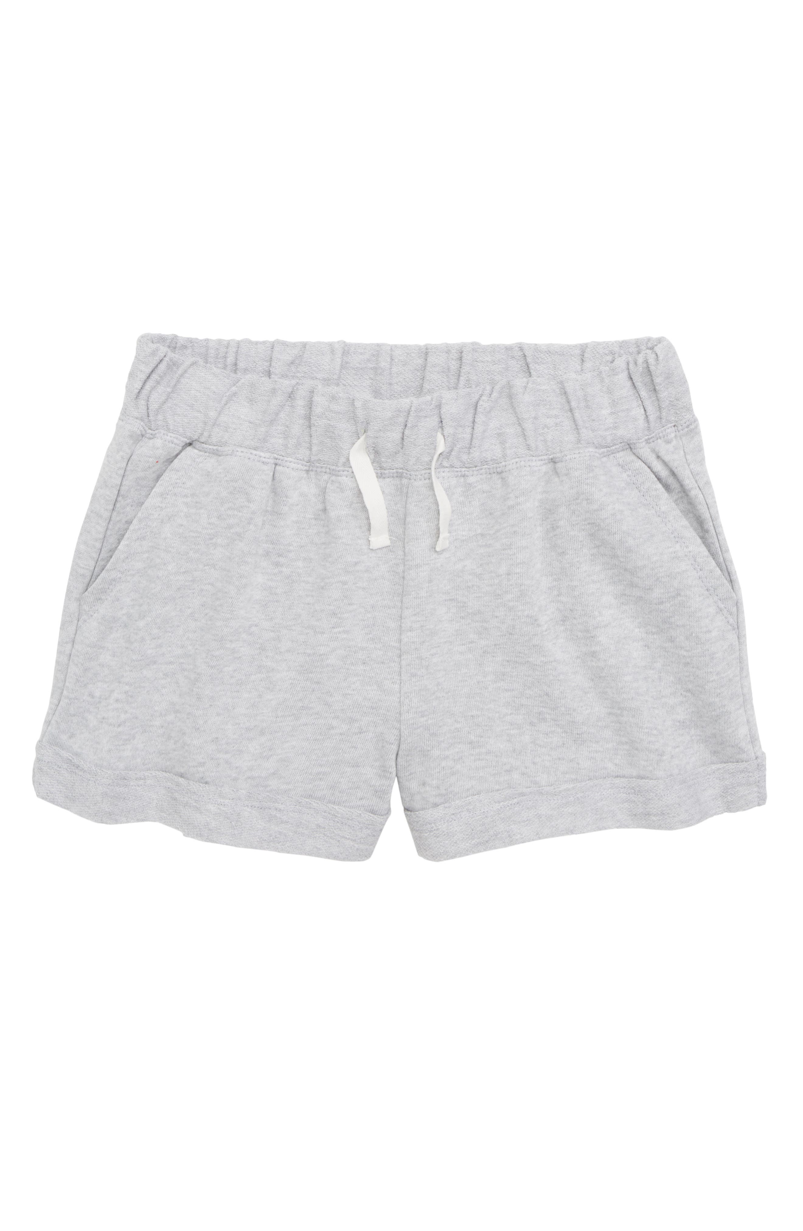 Cuff French Terry Shorts,                             Main thumbnail 1, color,                             Ice Grey Heather