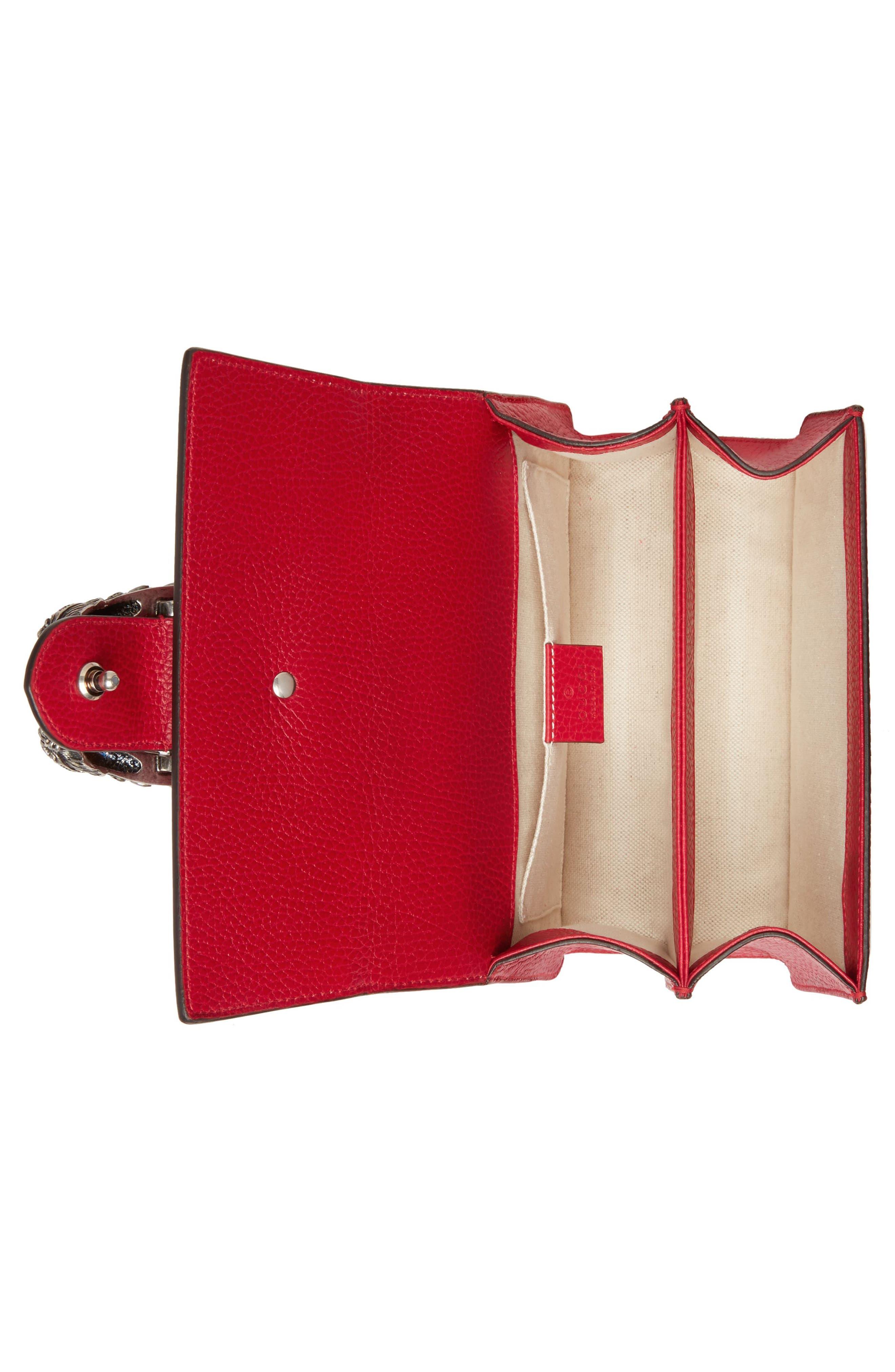Mini Dionysus Leather Top Handle Satchel,                             Alternate thumbnail 3, color,                             Red/ Blue/ Black Diamond