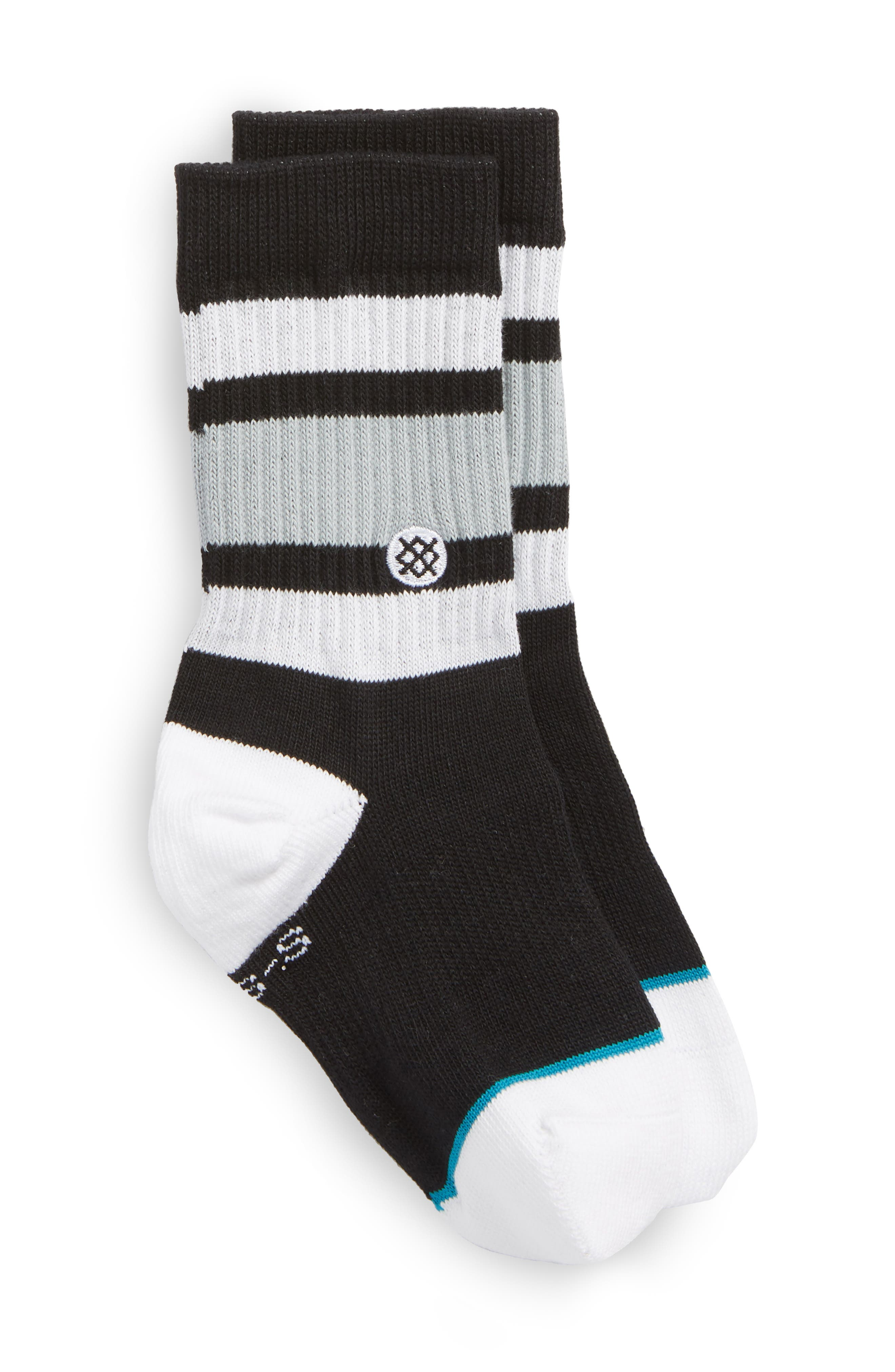Boyd Striped Socks,                         Main,                         color, Black