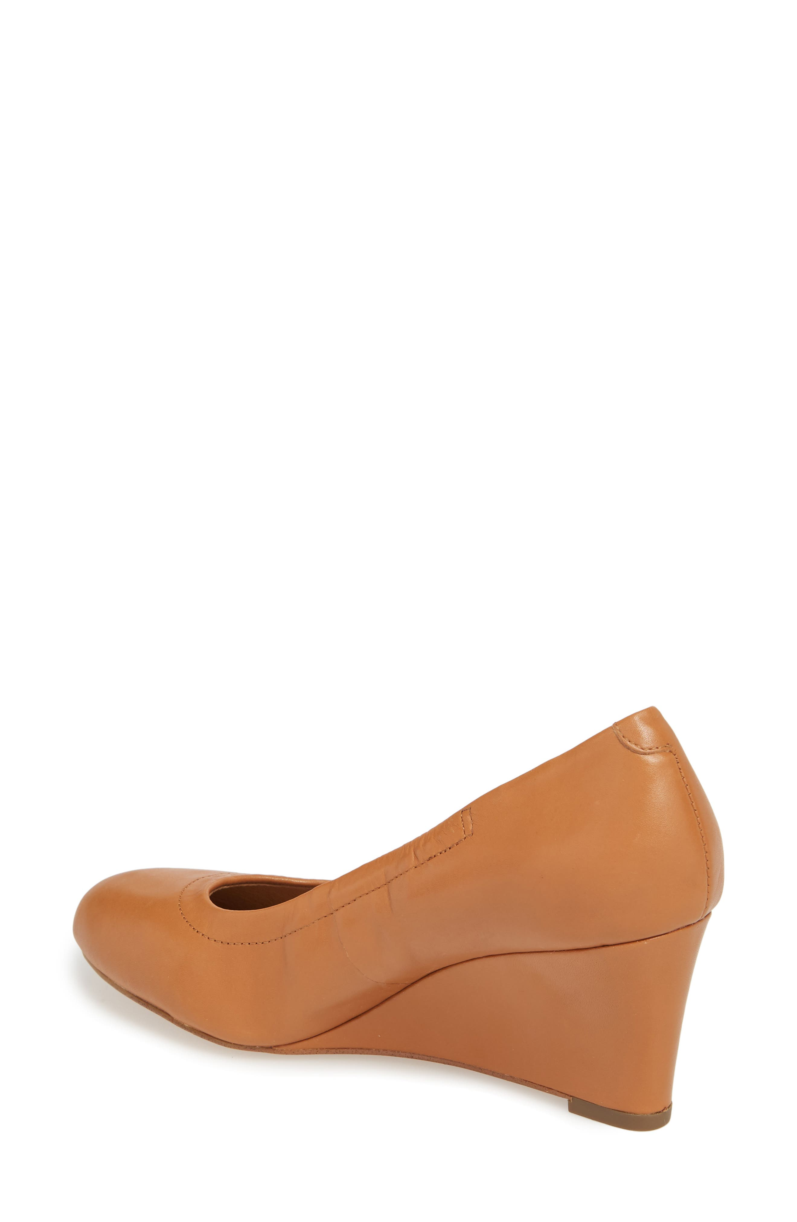 Camden Wedge,                             Alternate thumbnail 2, color,                             Tan Leather