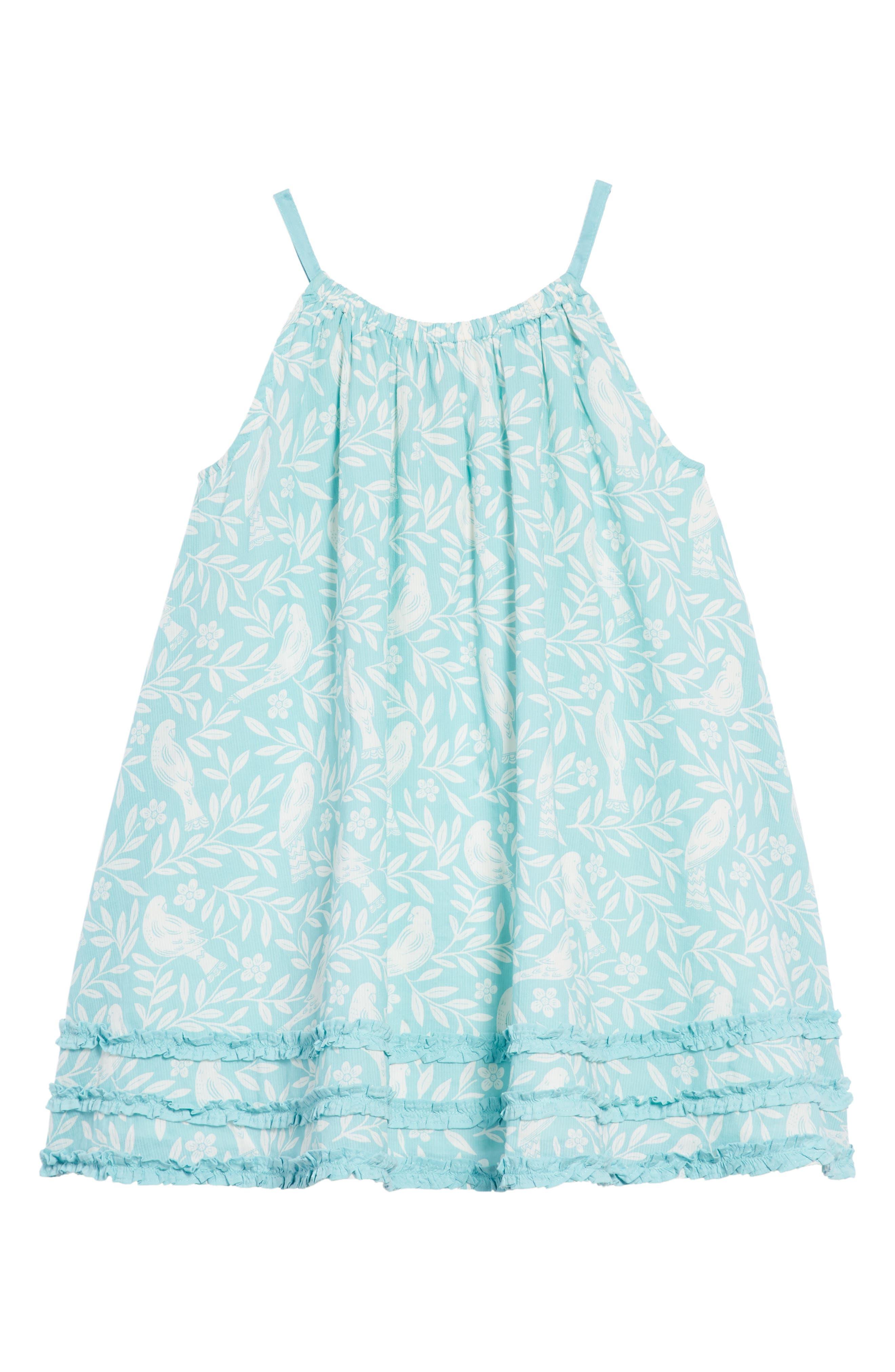 Vacation Woven Dress,                             Main thumbnail 1, color,                             Camper Blue Lino Bir