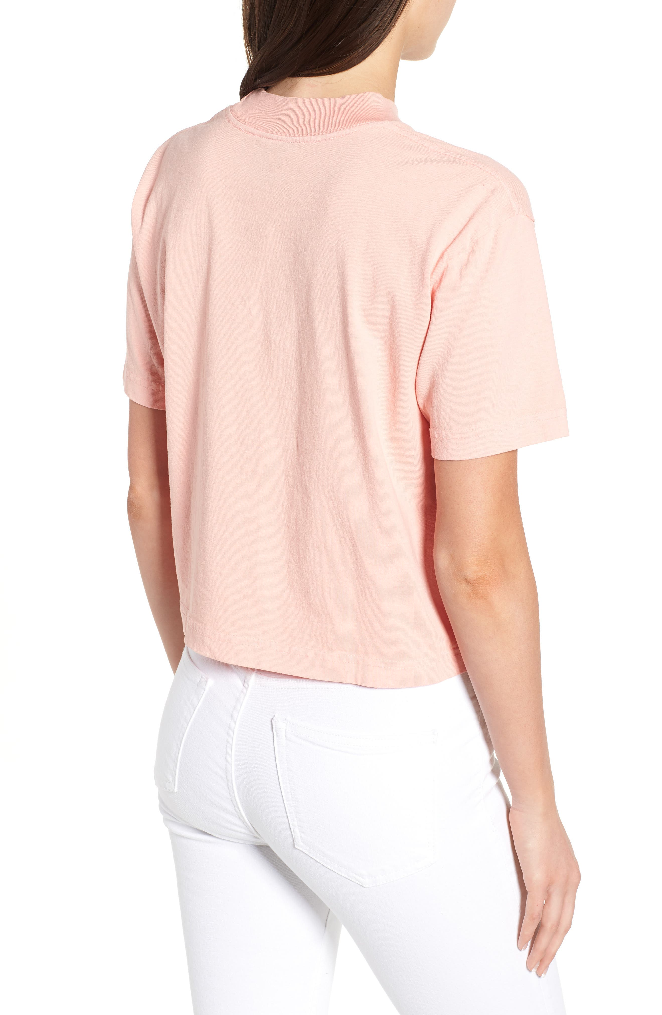 Novel Obey II Crop Tee,                             Alternate thumbnail 2, color,                             Peach