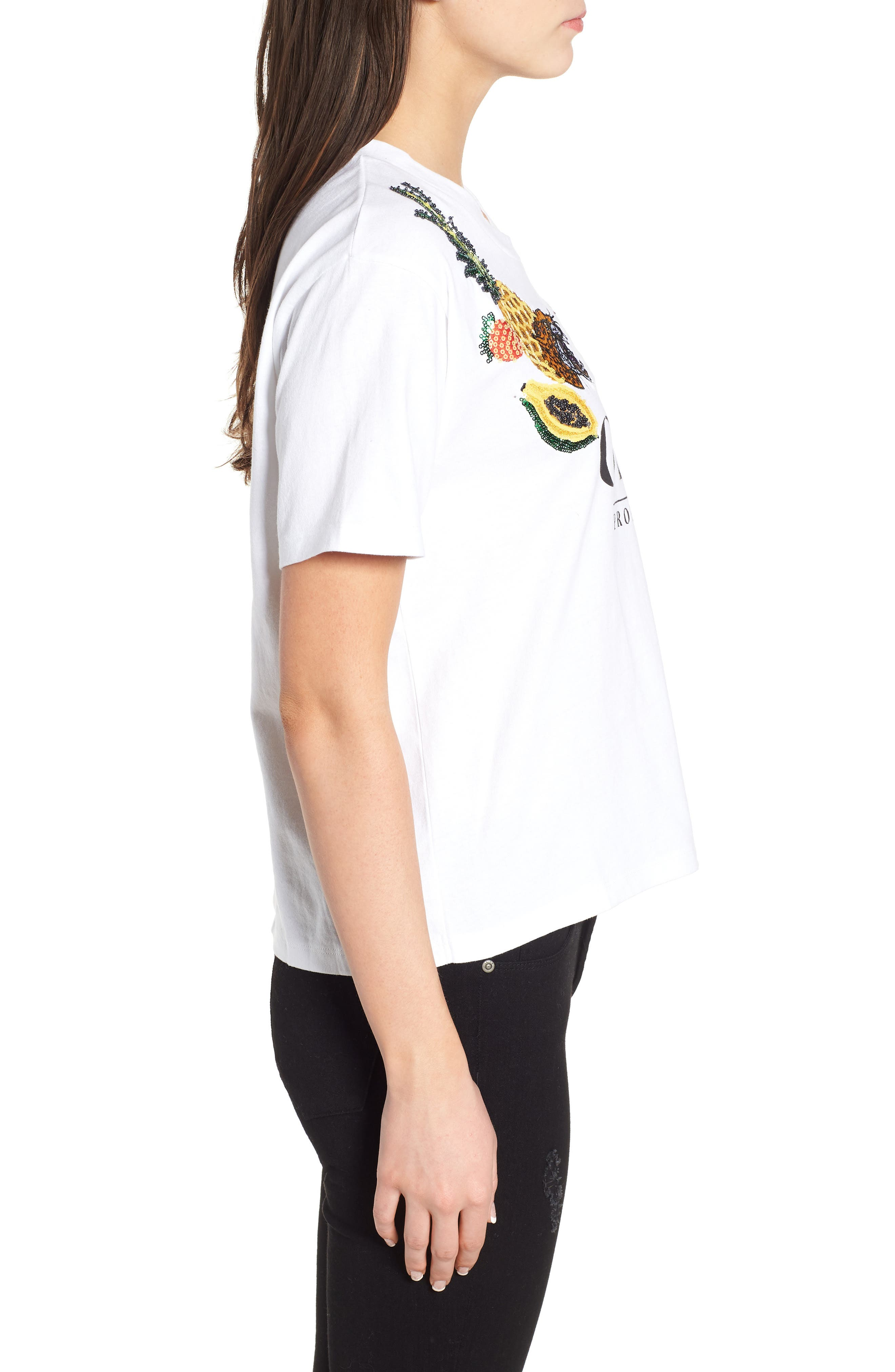 Help Me Embellished Graphic Tee,                             Alternate thumbnail 5, color,                             White