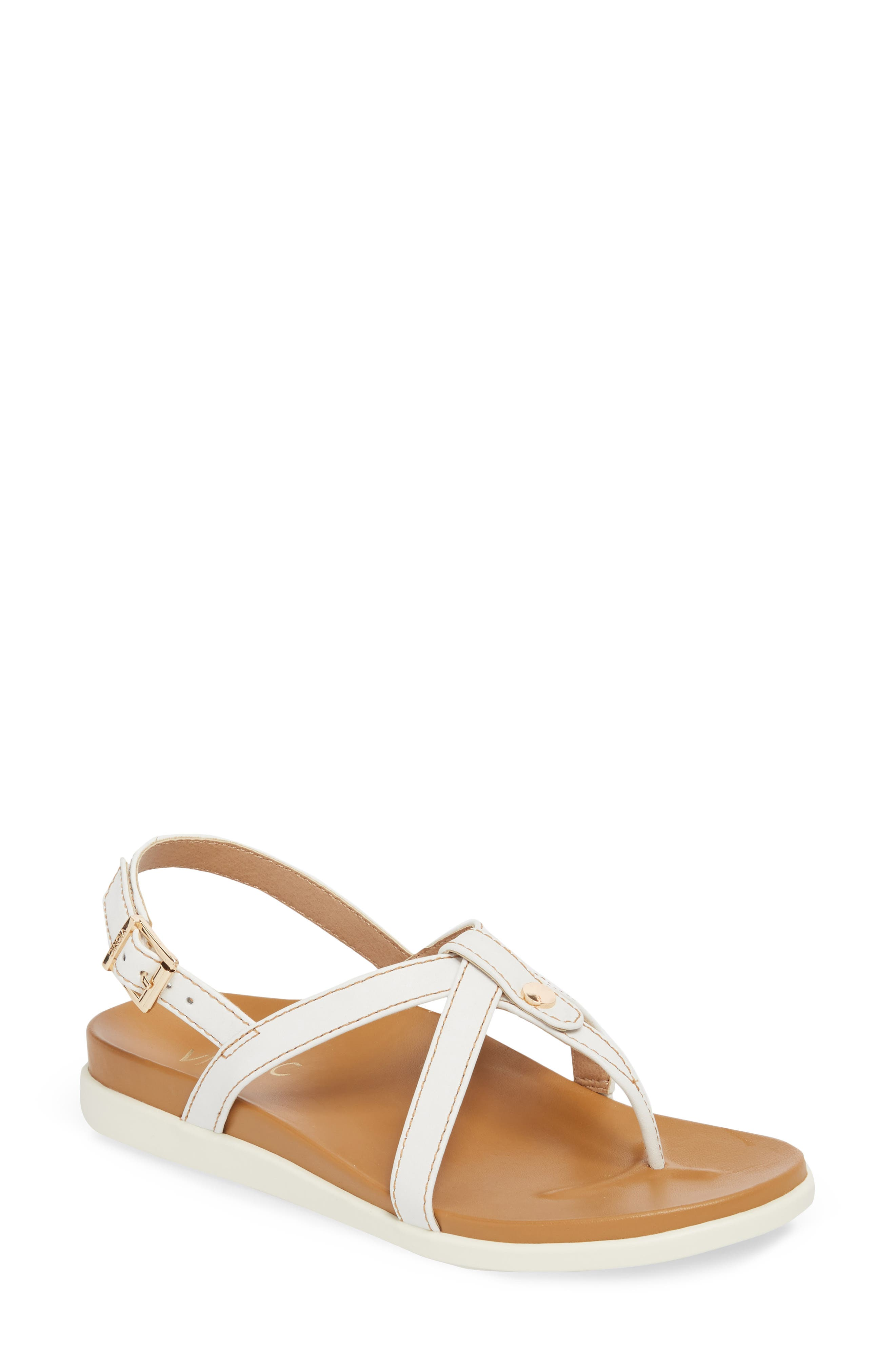 Veranda Sandal,                         Main,                         color, White Leather