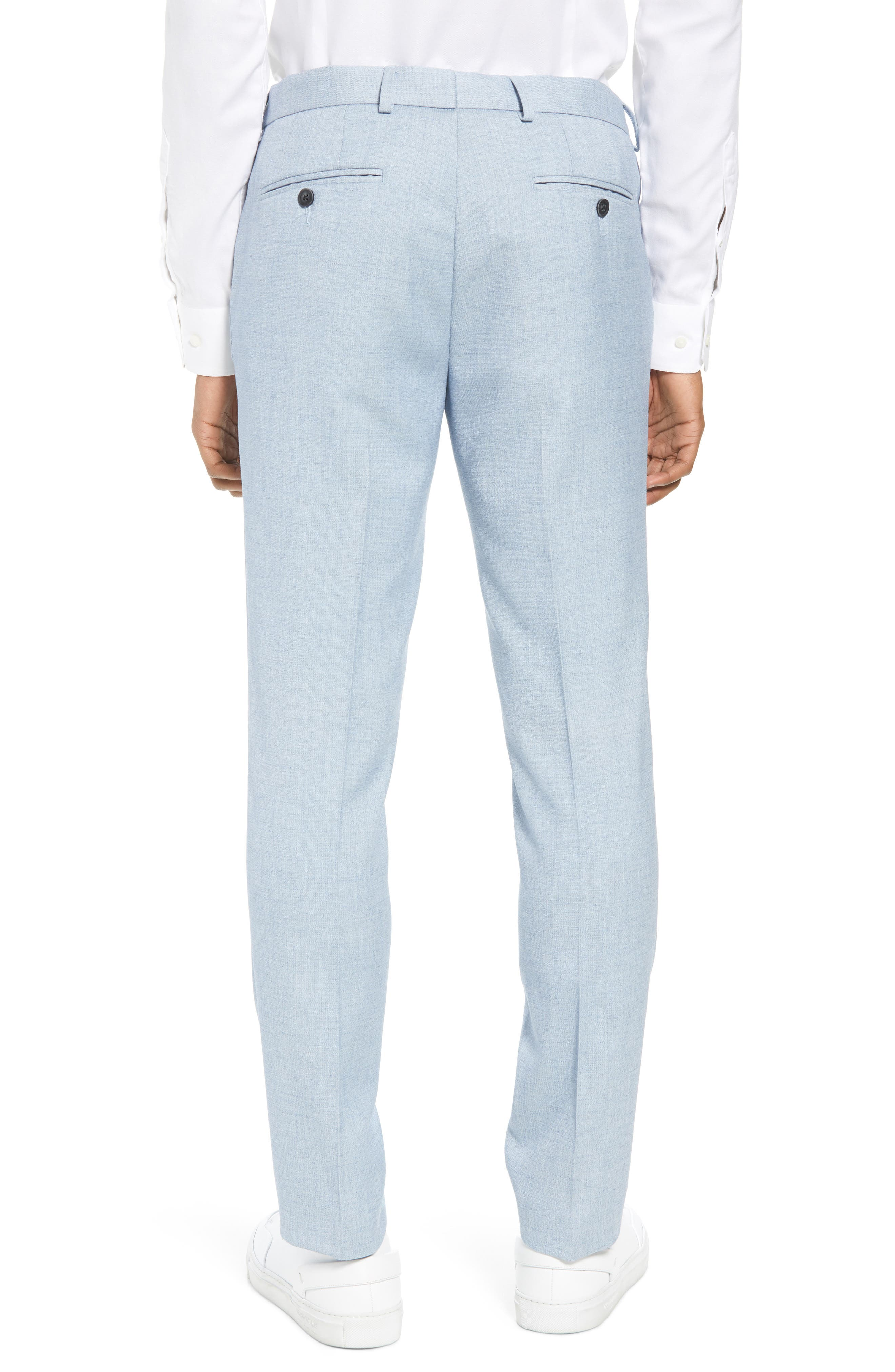 Stretch Skinny Fit Suit Trousers,                             Alternate thumbnail 2, color,                             Blue
