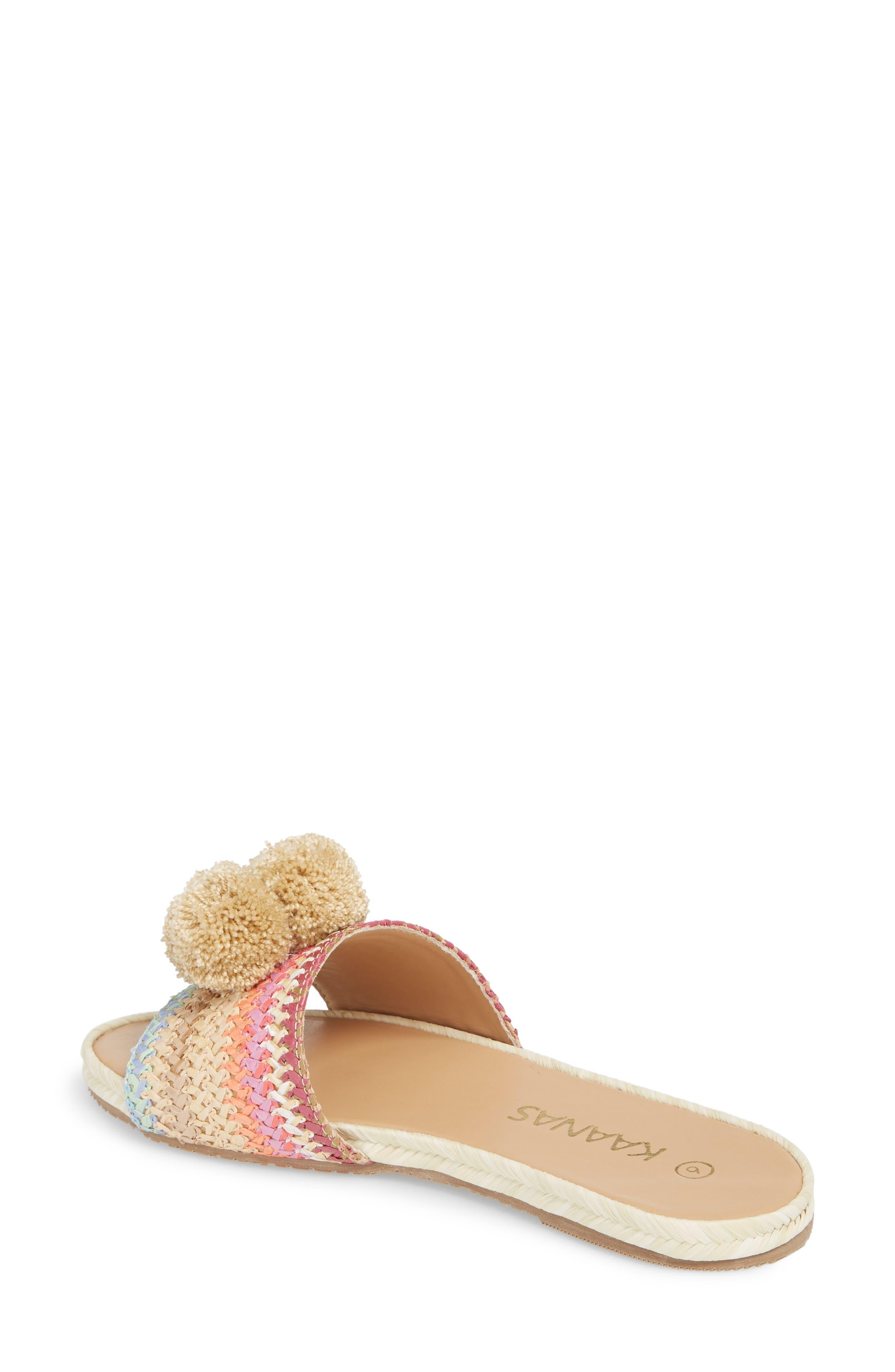 Santa Helena Pom Slide Sandal,                             Alternate thumbnail 2, color,                             Bright Multi
