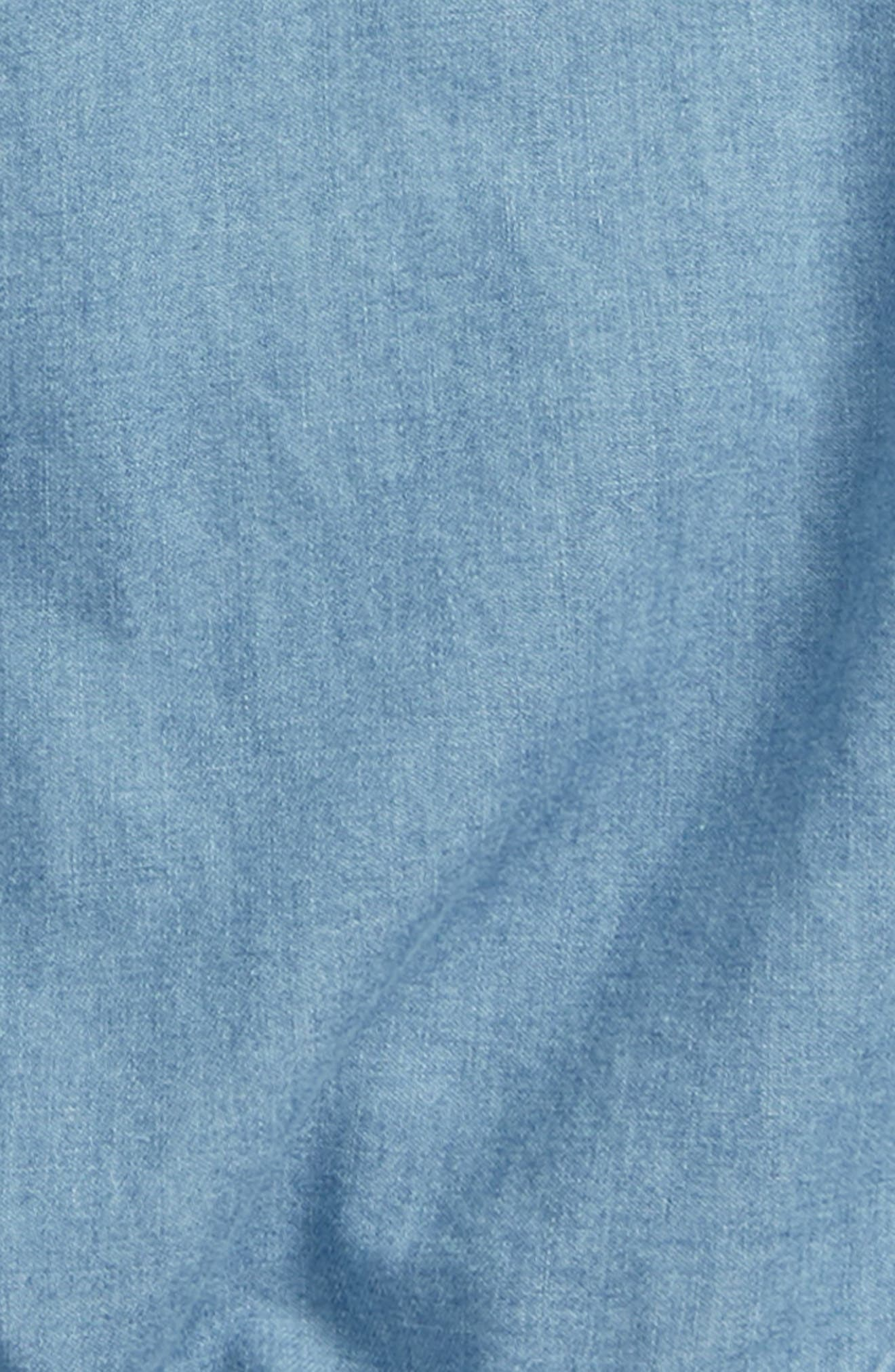 Tie Front Top,                             Alternate thumbnail 2, color,                             Chambray