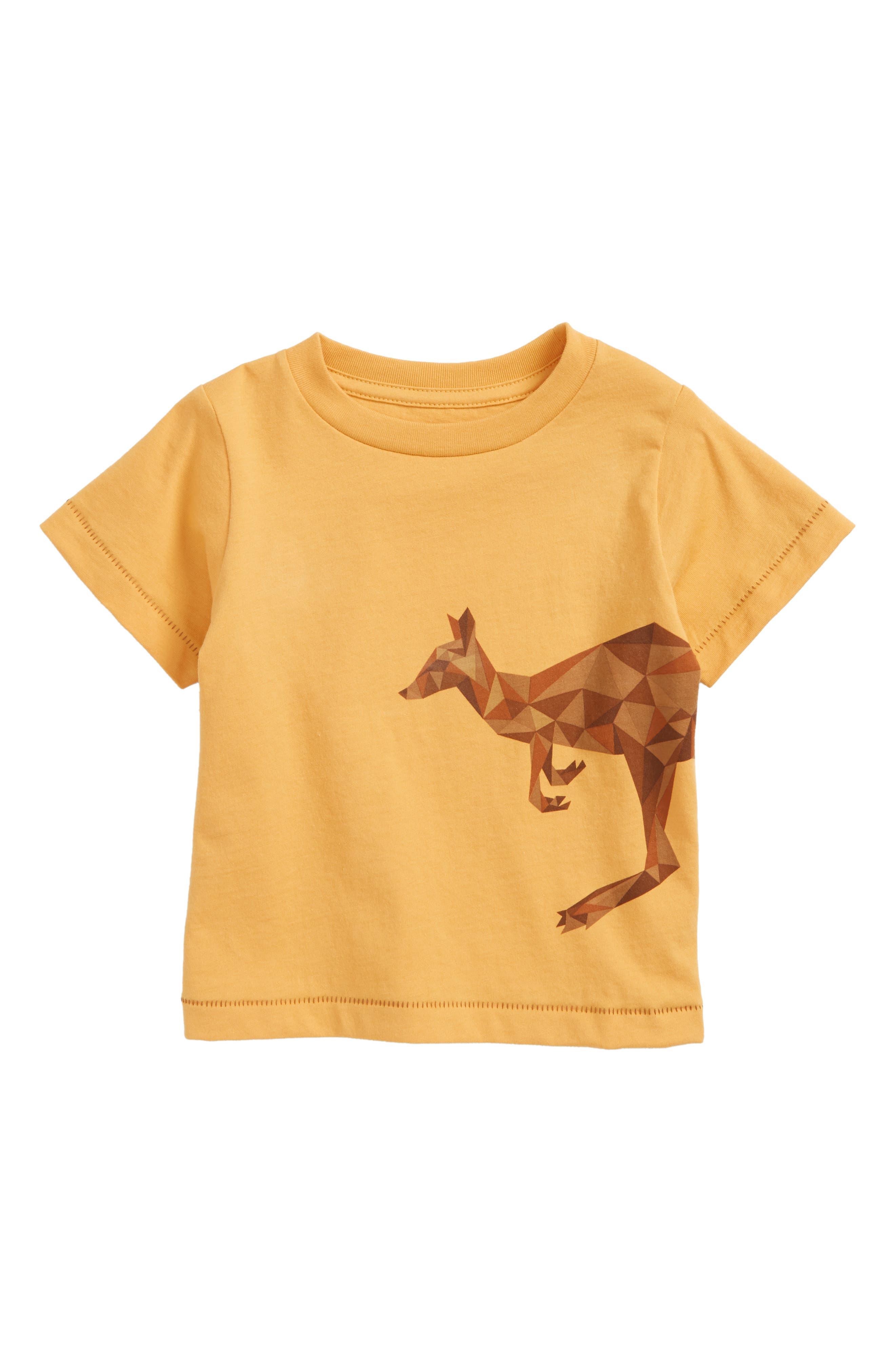 Alternate Image 1 Selected - Peek Kangaroo Graphic T-Shirt (Baby Boys)