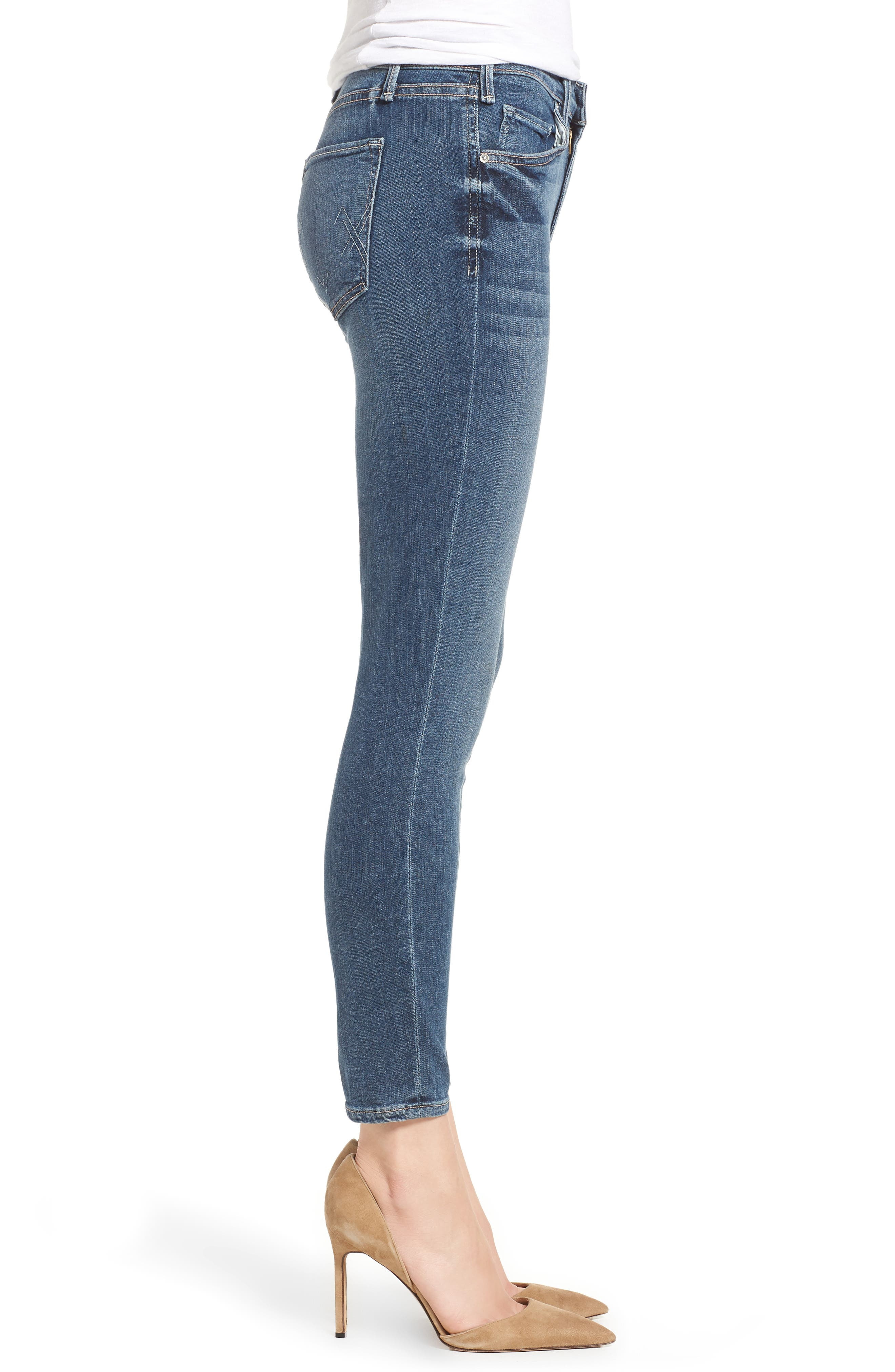 Newton Crop Skinny Jeans,                             Alternate thumbnail 3, color,                             Barthelemy Gardens