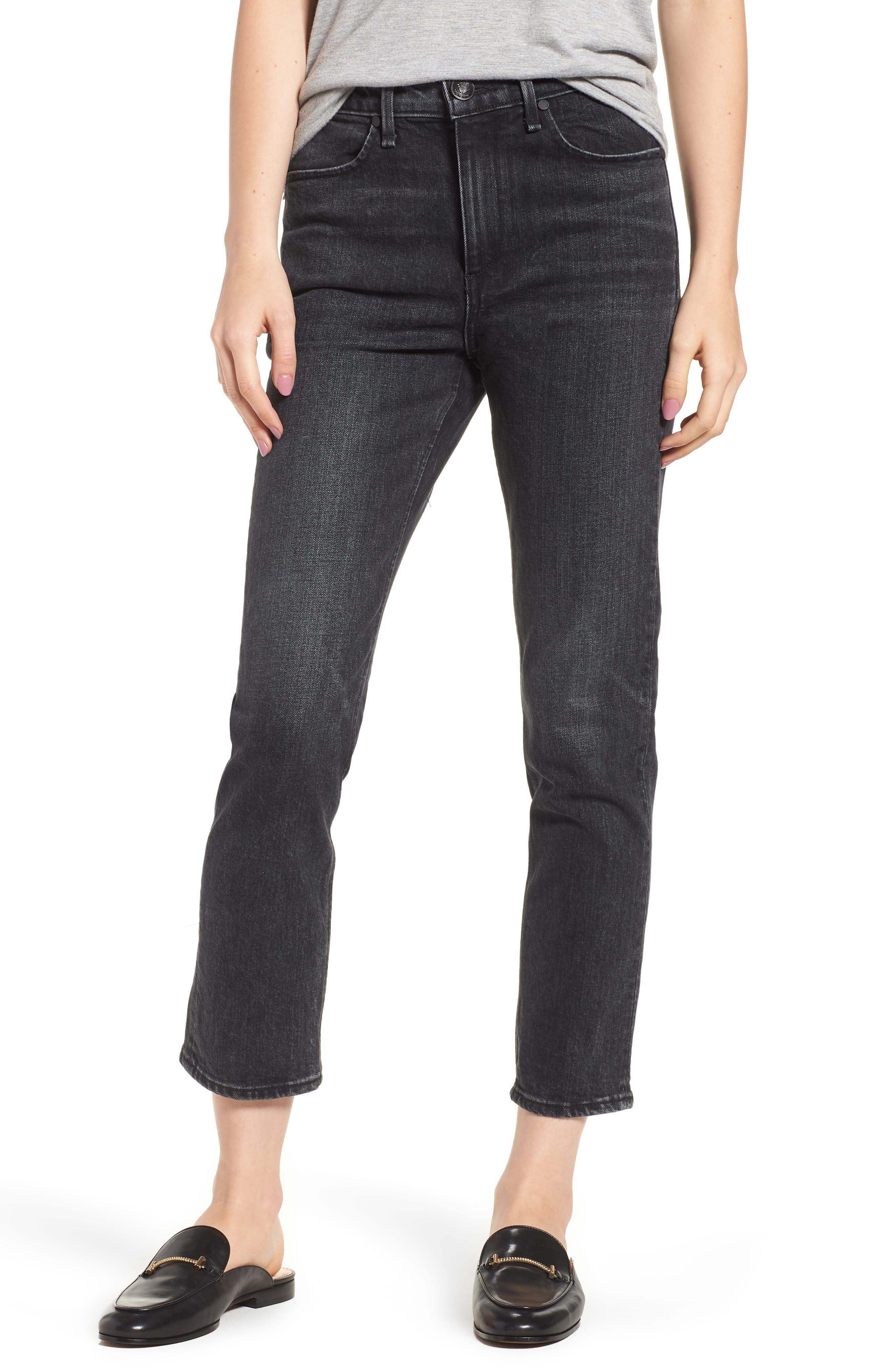 rag & bone/JEAN Ankle Cigarette Jeans (Black Bunnys)