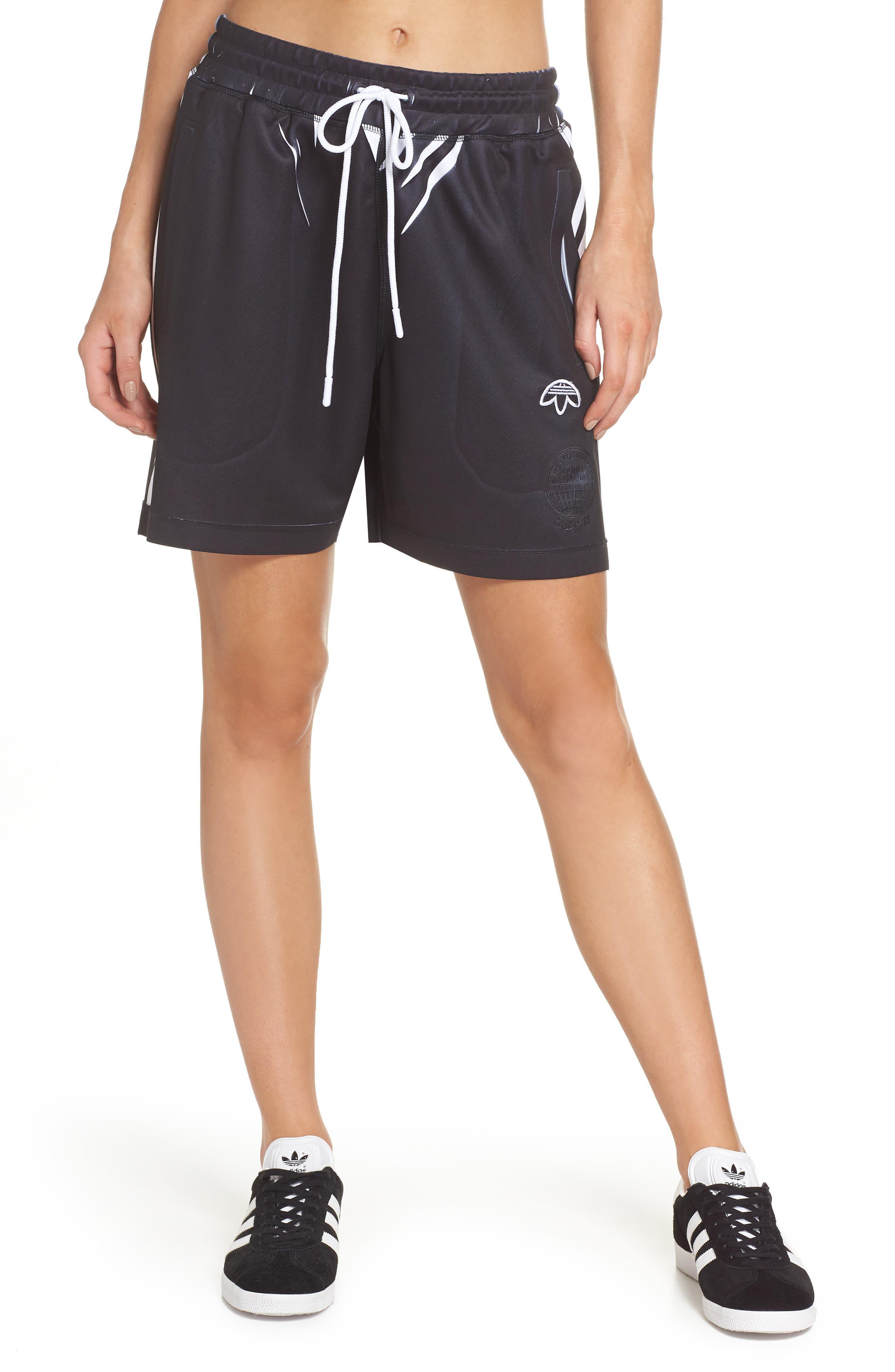 Shorts,                             Main thumbnail 1, color,                             Black/ White