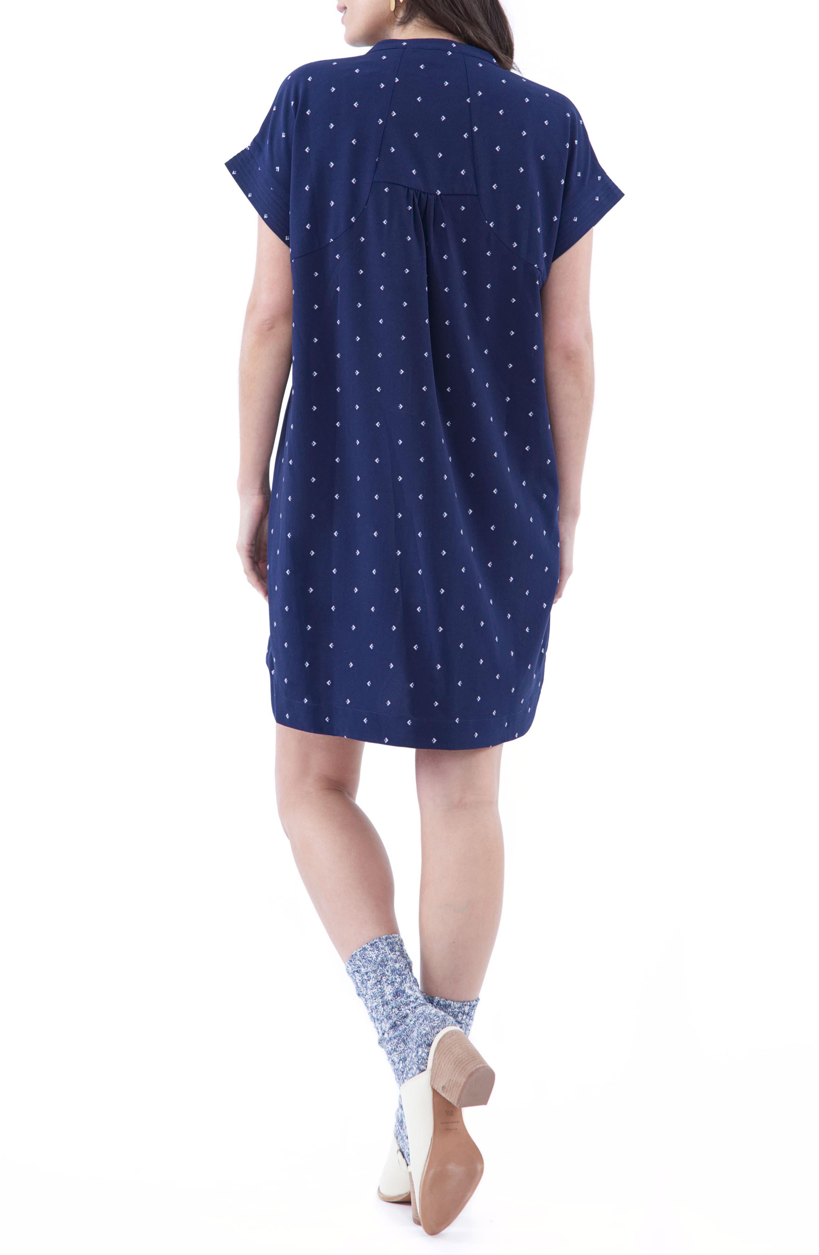 Cybelle Maternity/Nursing Shirtdress,                             Alternate thumbnail 3, color,                             Blue Arrow