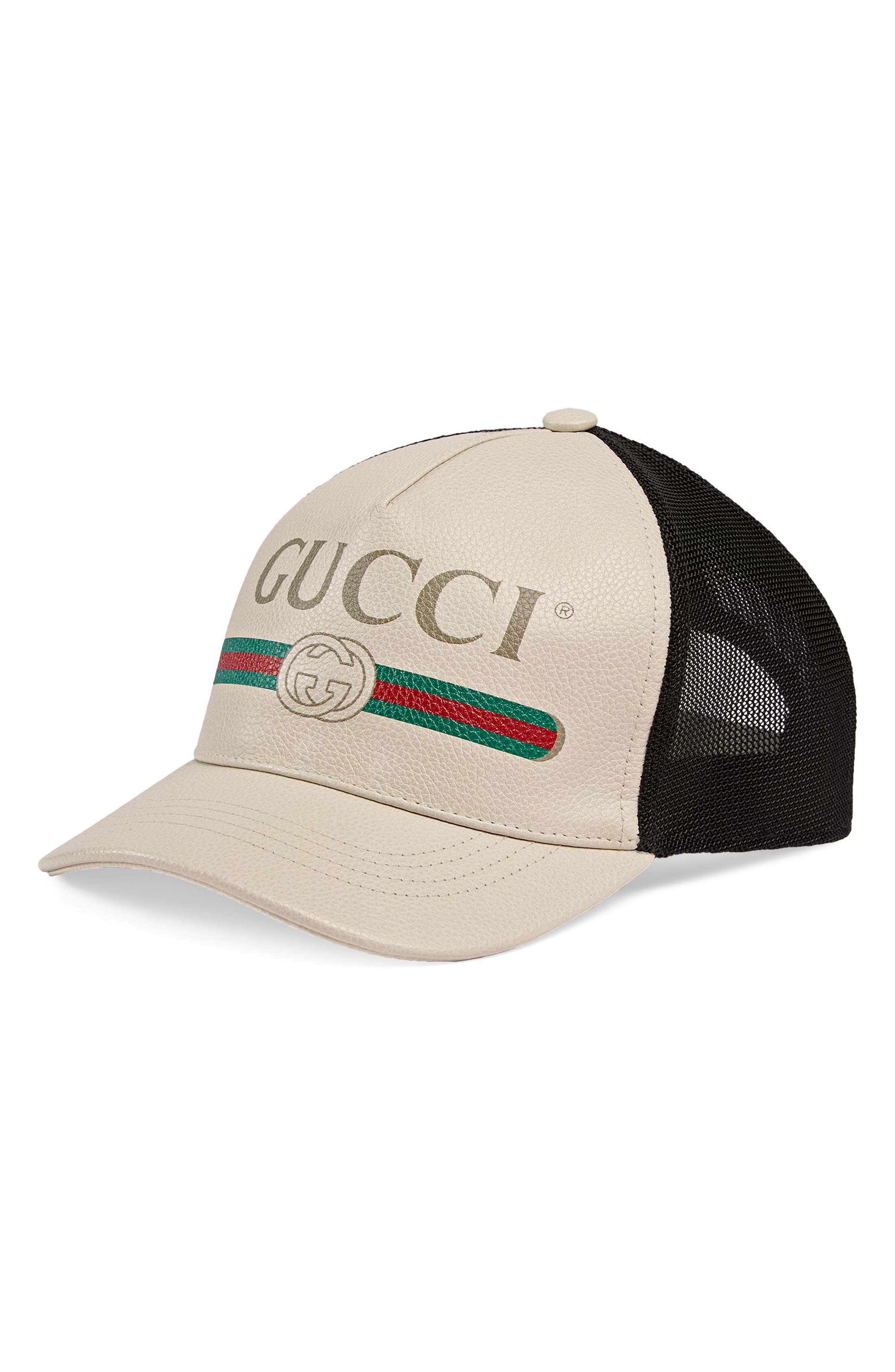 Gucci Vintage Logo Leather Ball Cap