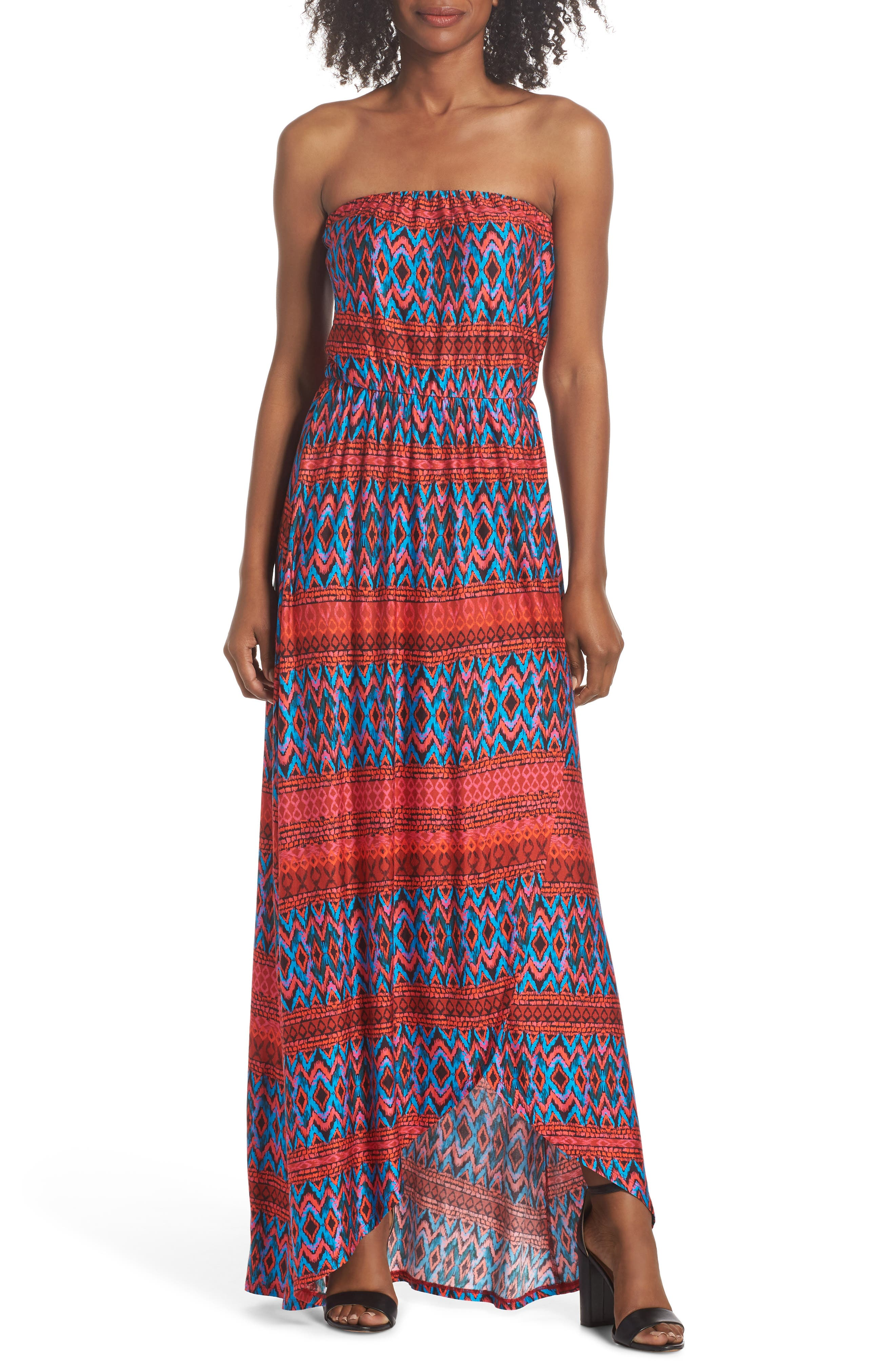 Felicity & Coco Strapless High/Low Dress (Regular & Petite) (Nordstrom Exclusive)