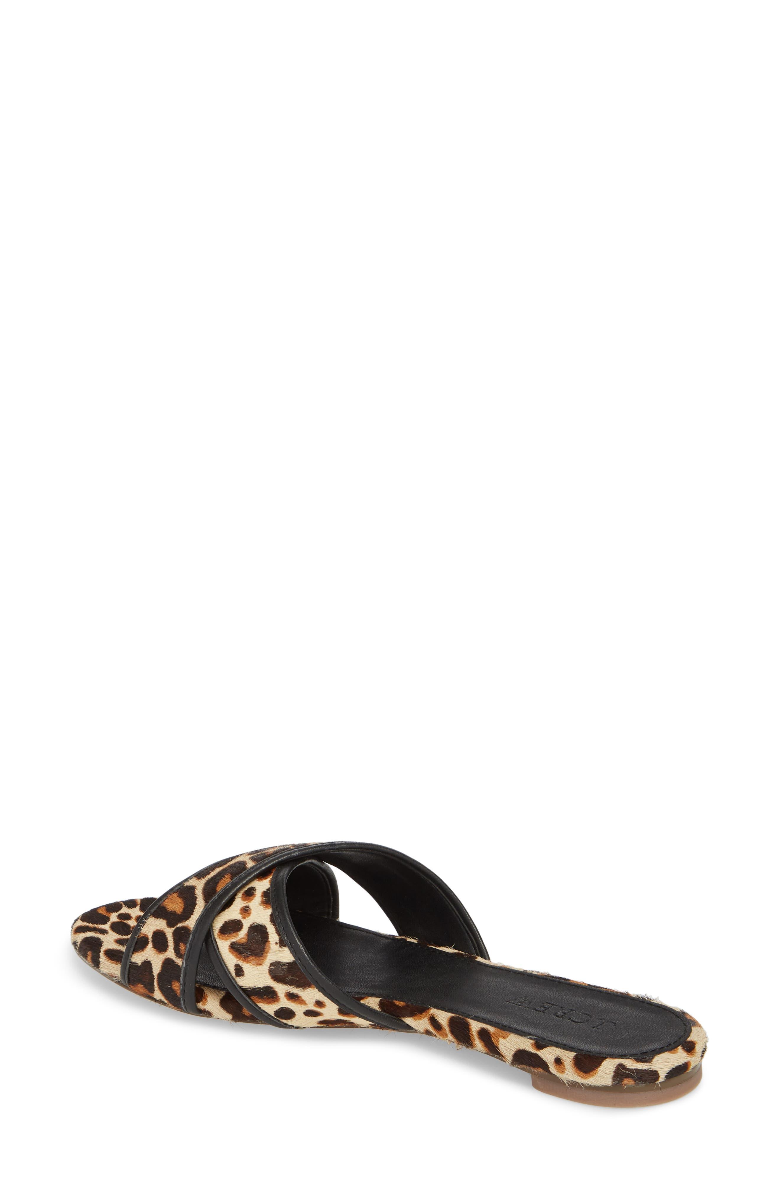 Cora Genuine Calf Hair Slide Sandal,                             Alternate thumbnail 3, color,                             Chocolate Sepia