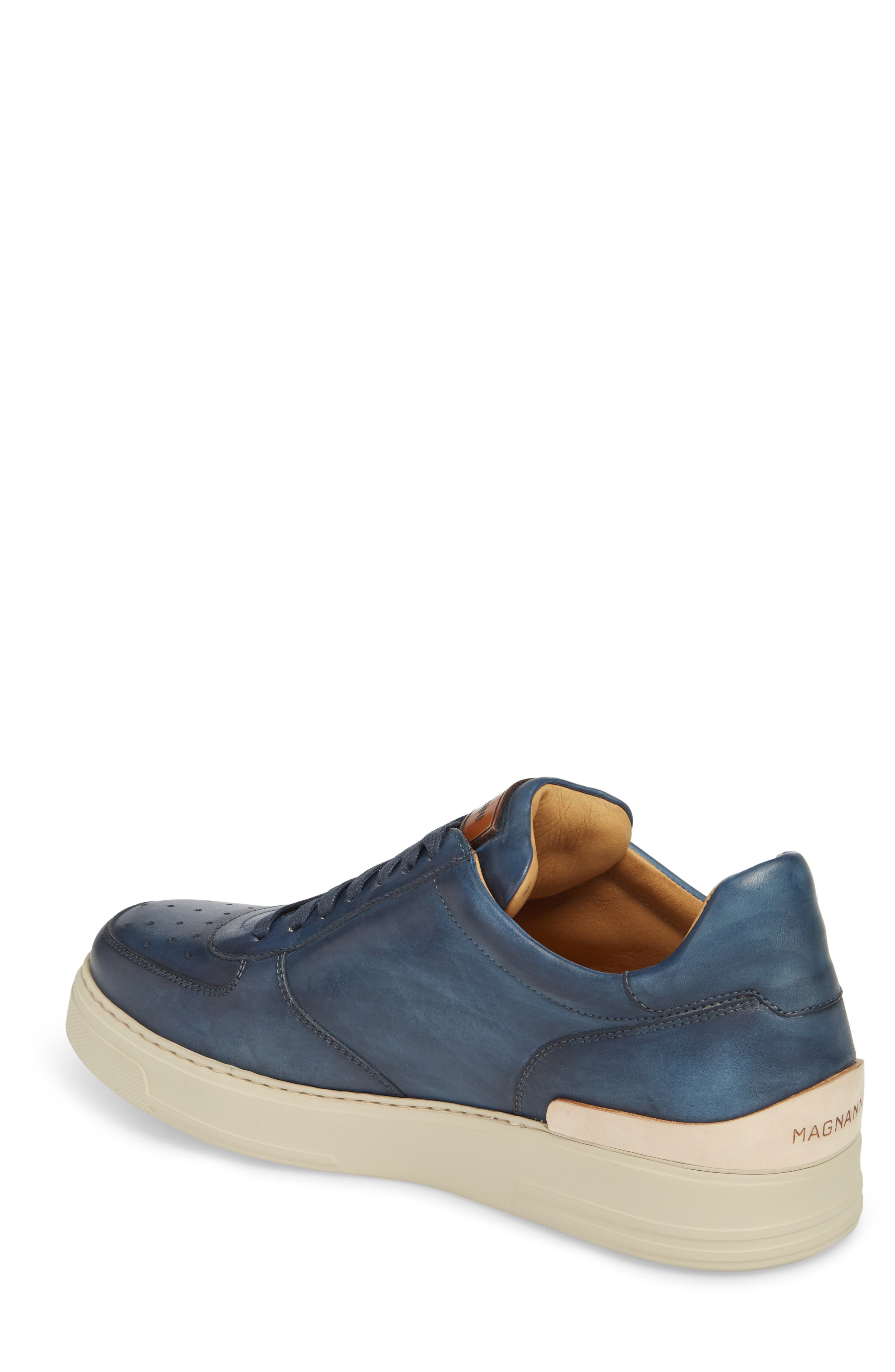 Vada Lo Lace Up Sneaker,                             Alternate thumbnail 2, color,                             Blue Leather