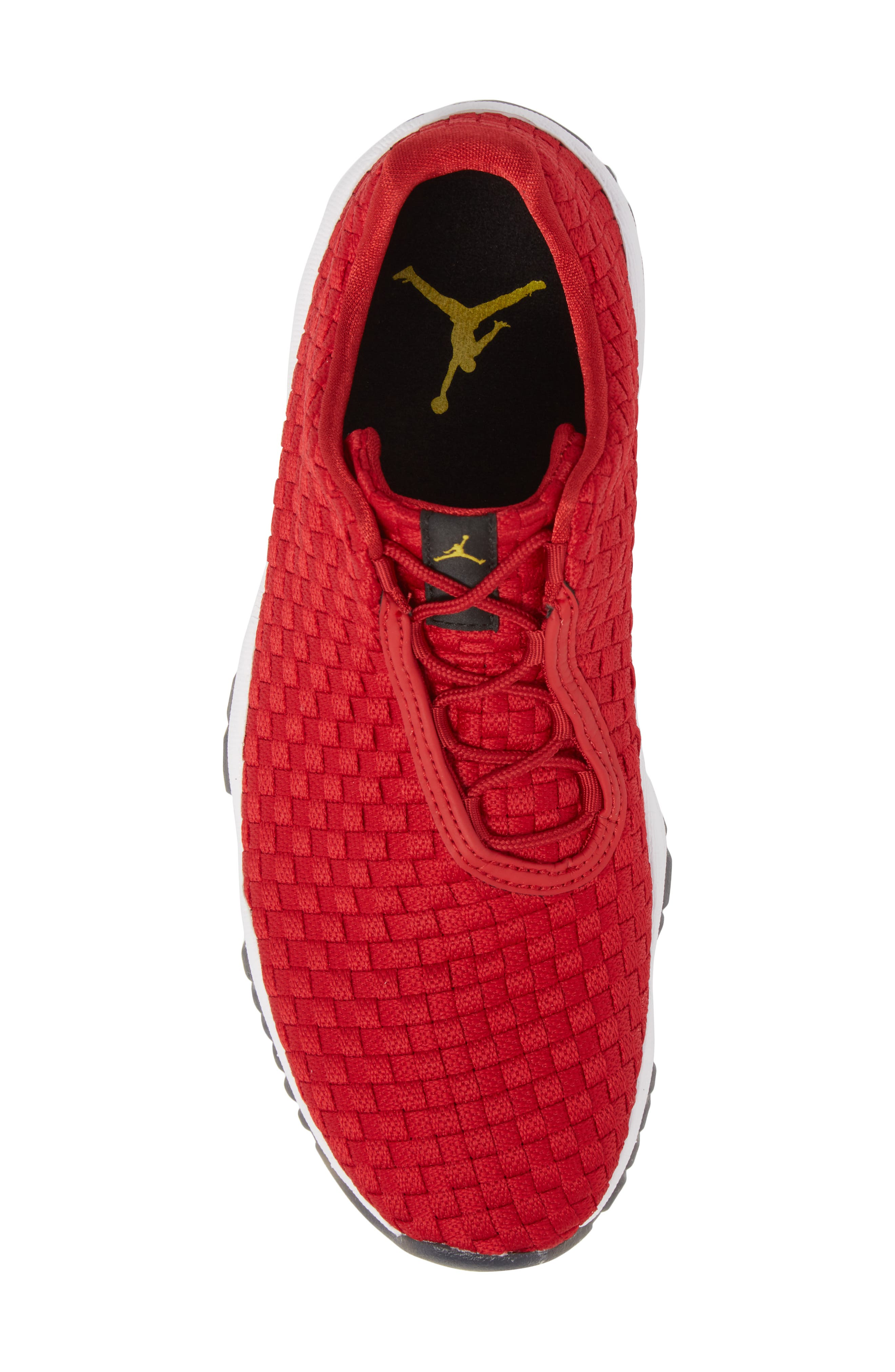 Air Jordan Future Woven Sneaker,                             Alternate thumbnail 5, color,                             Gym Red/ White/ Black