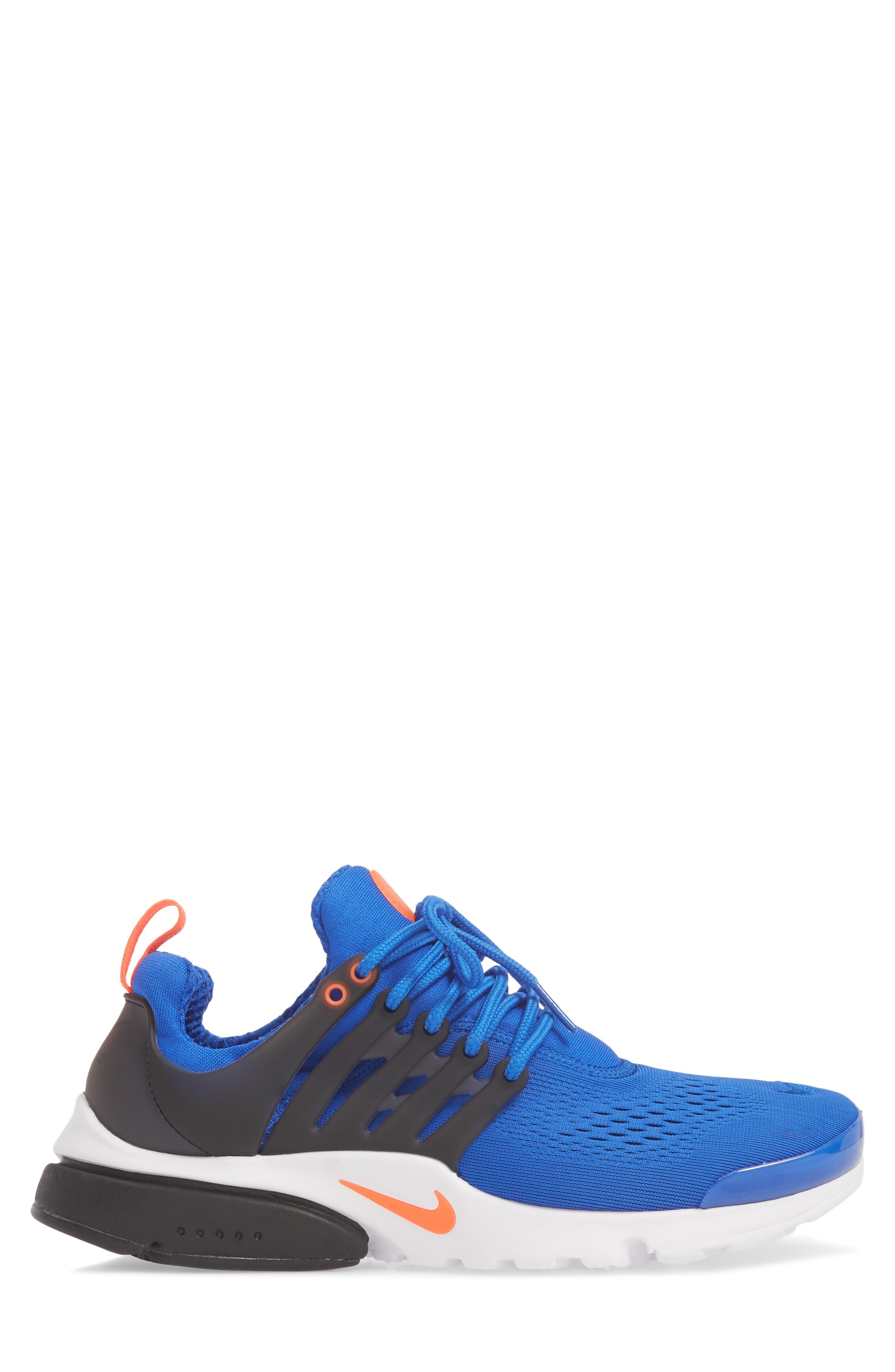 Air Presto Ultra Breathe Sneaker,                             Alternate thumbnail 3, color,                             Racer Blue/ Total Crimson