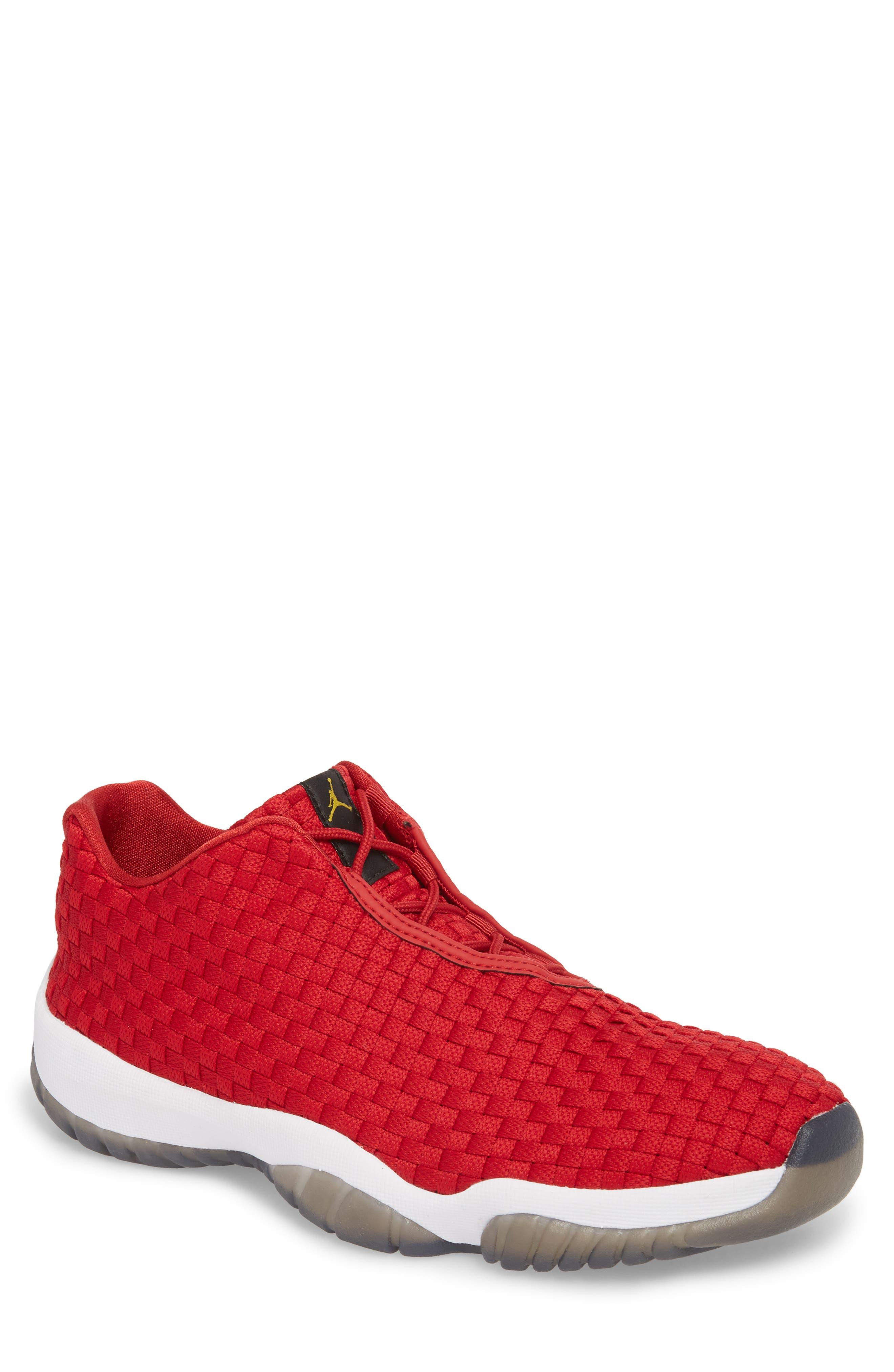 Air Jordan Future Woven Sneaker,                             Main thumbnail 1, color,                             Gym Red/ White/ Black