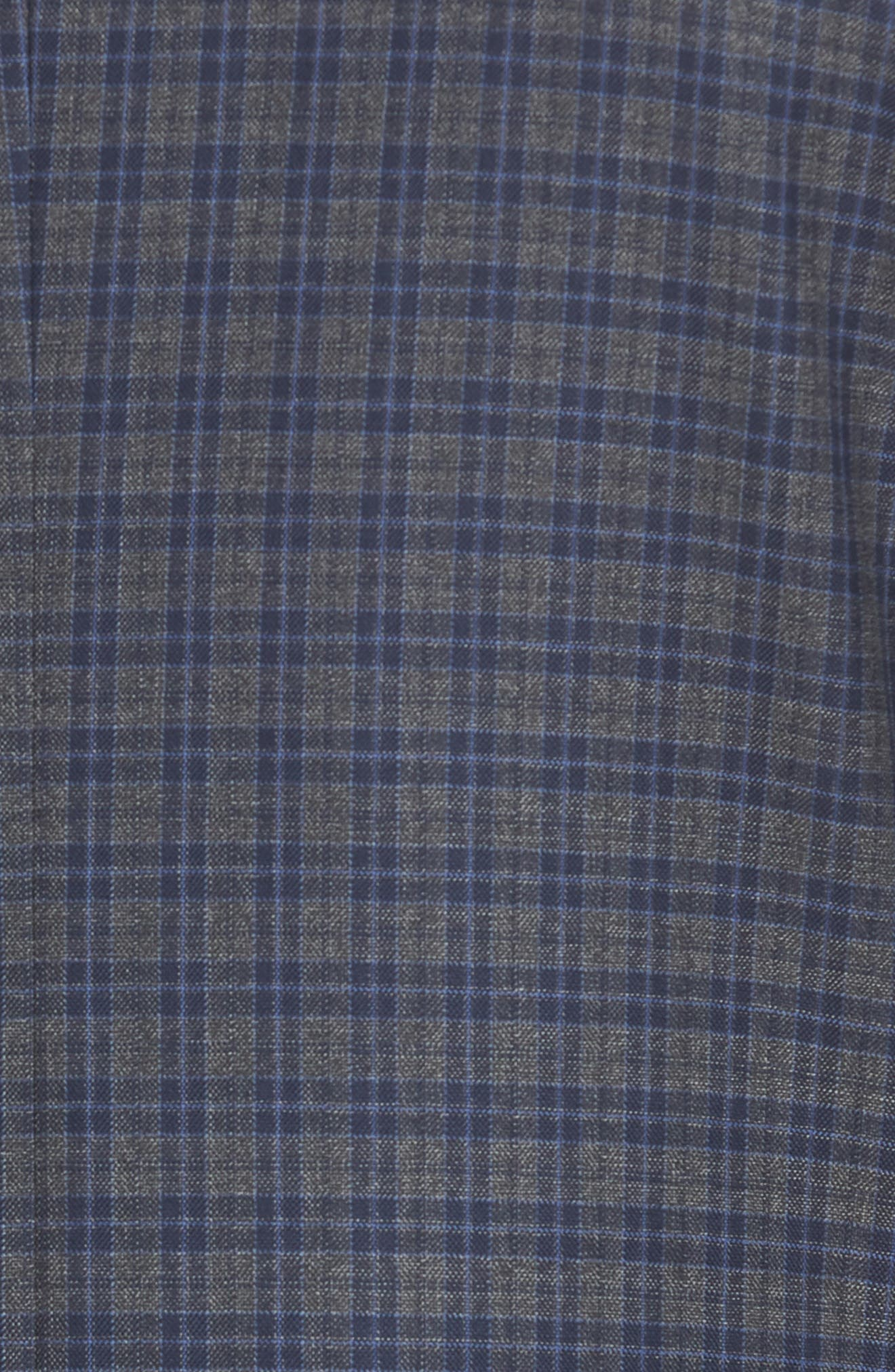 Classic Fit Check Wool Sport Coat,                             Alternate thumbnail 5, color,                             Grey
