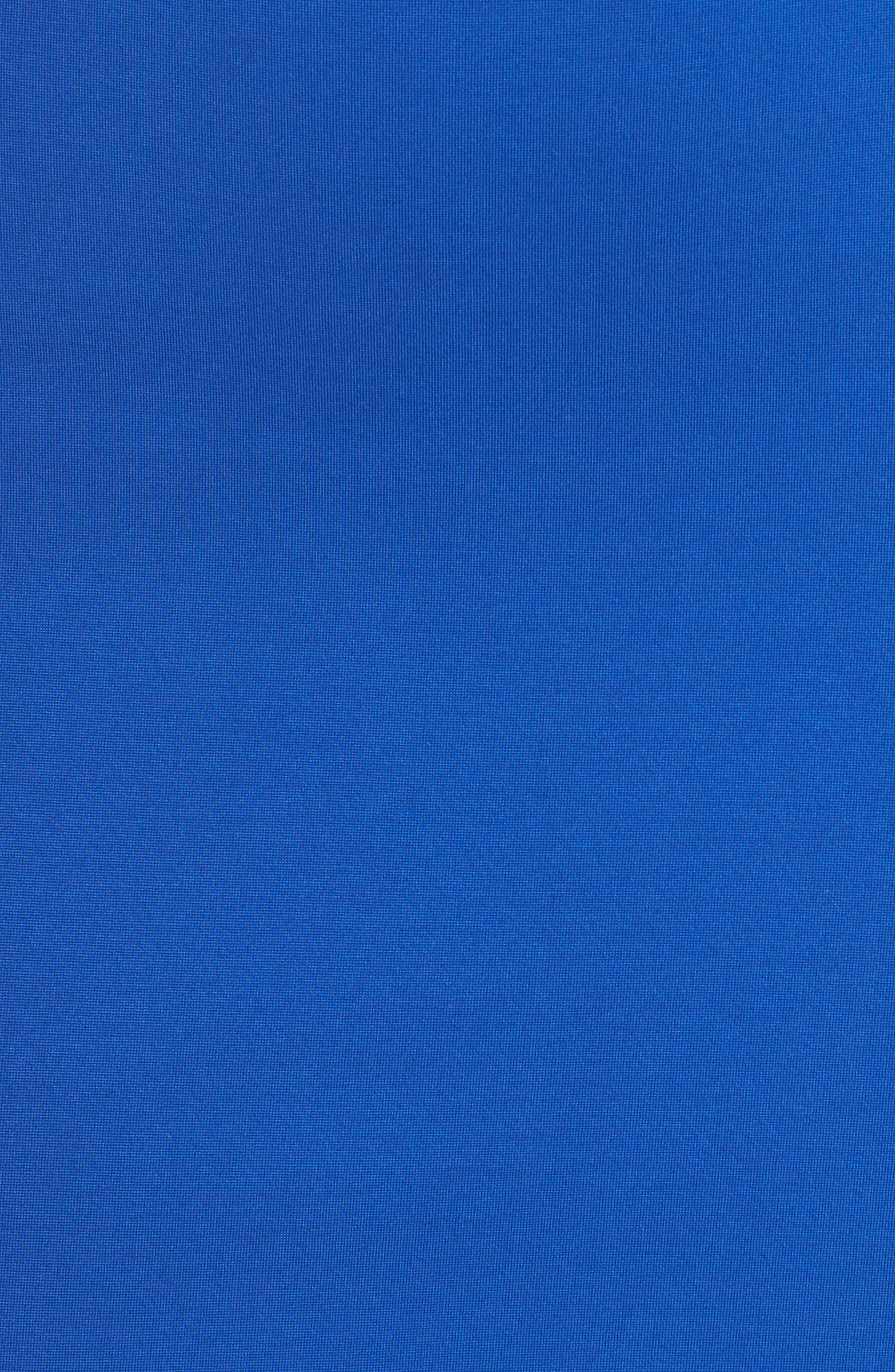 Monrow Flutter Hem Midi Dress,                             Alternate thumbnail 6, color,                             Cobalt
