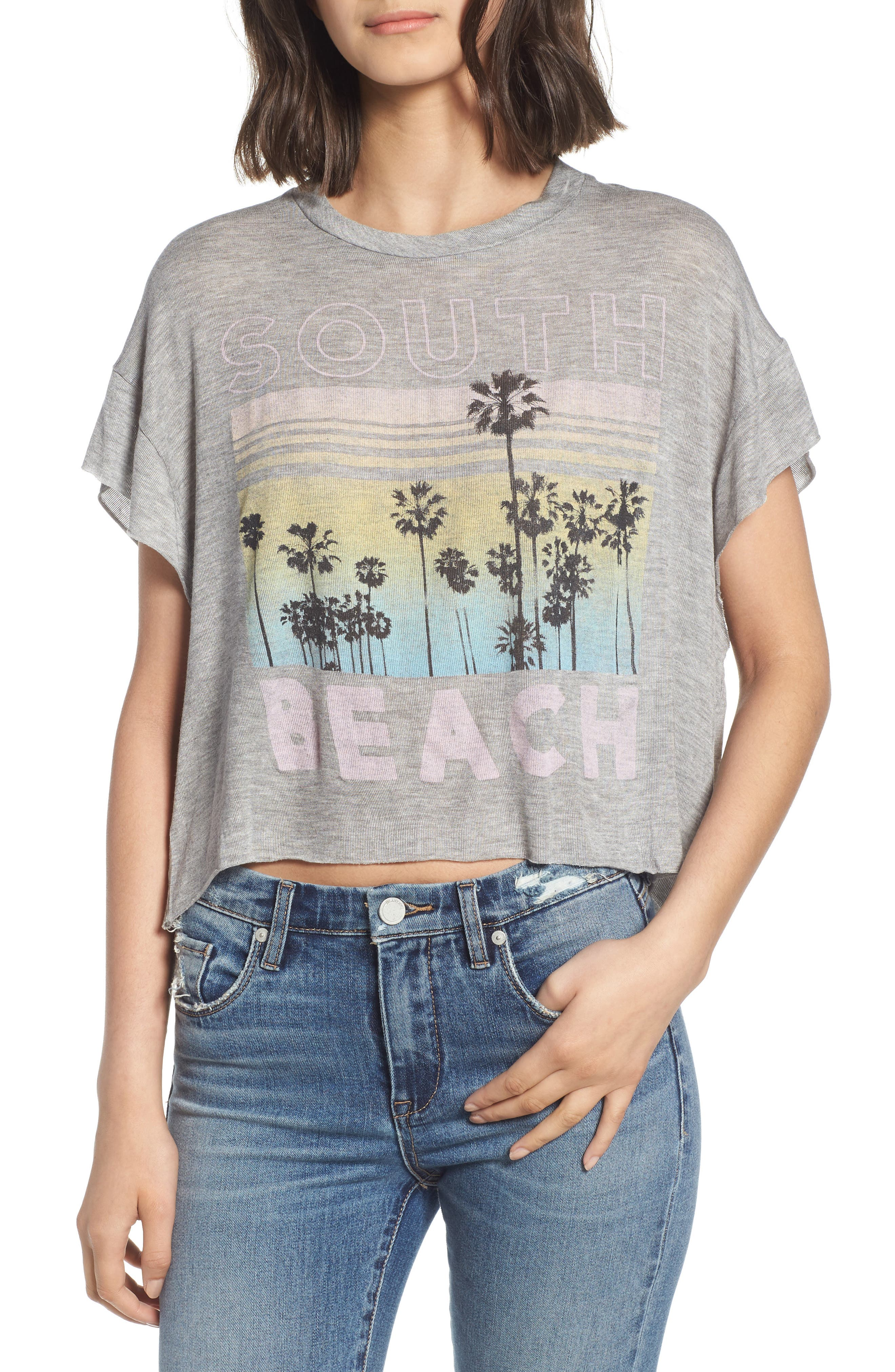 Project Social T South Beach Boxy Crop Tee