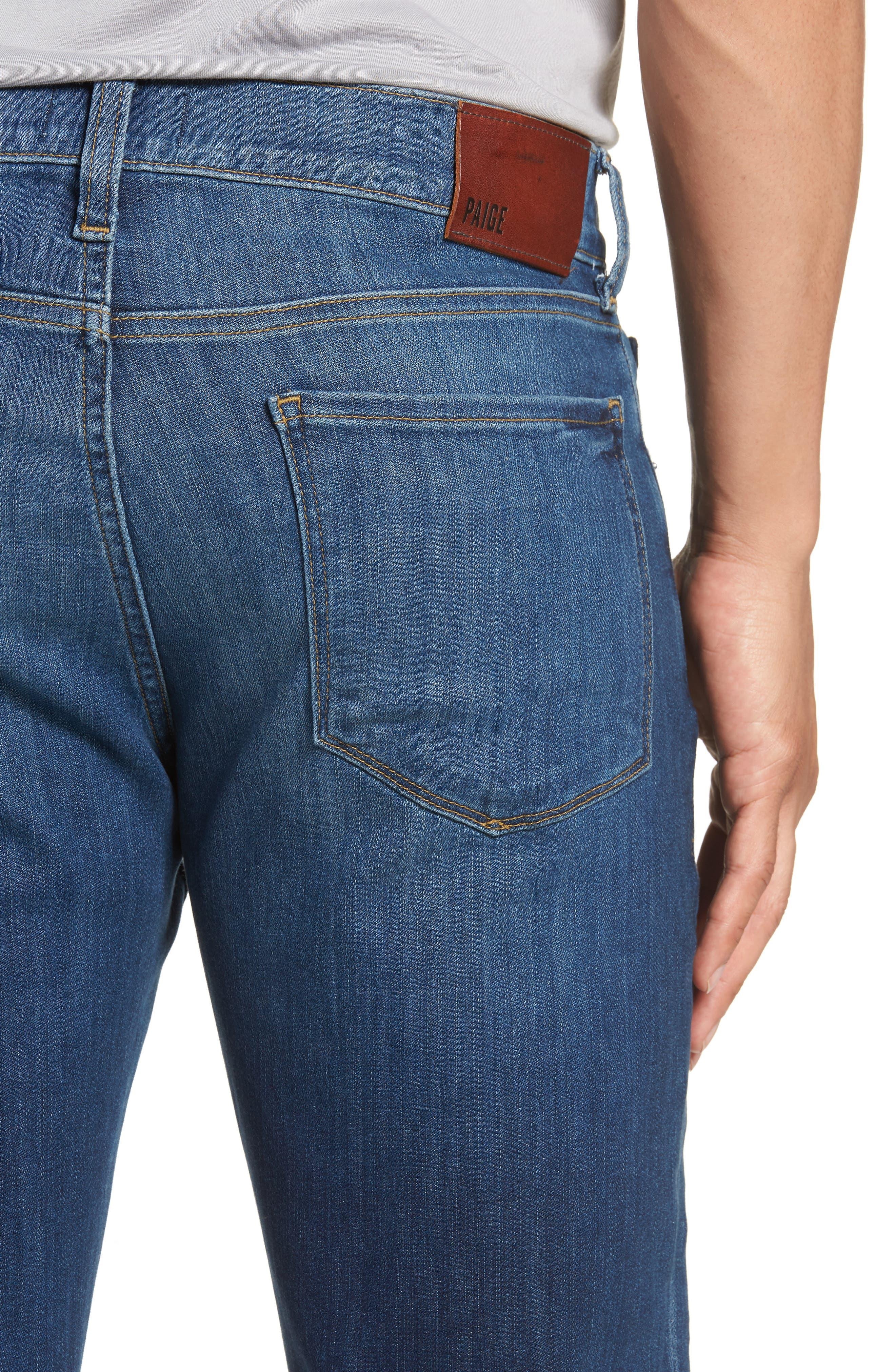 Transcend - Lennox Slim Fit Jeans,                             Alternate thumbnail 5, color,                             Ashbrook