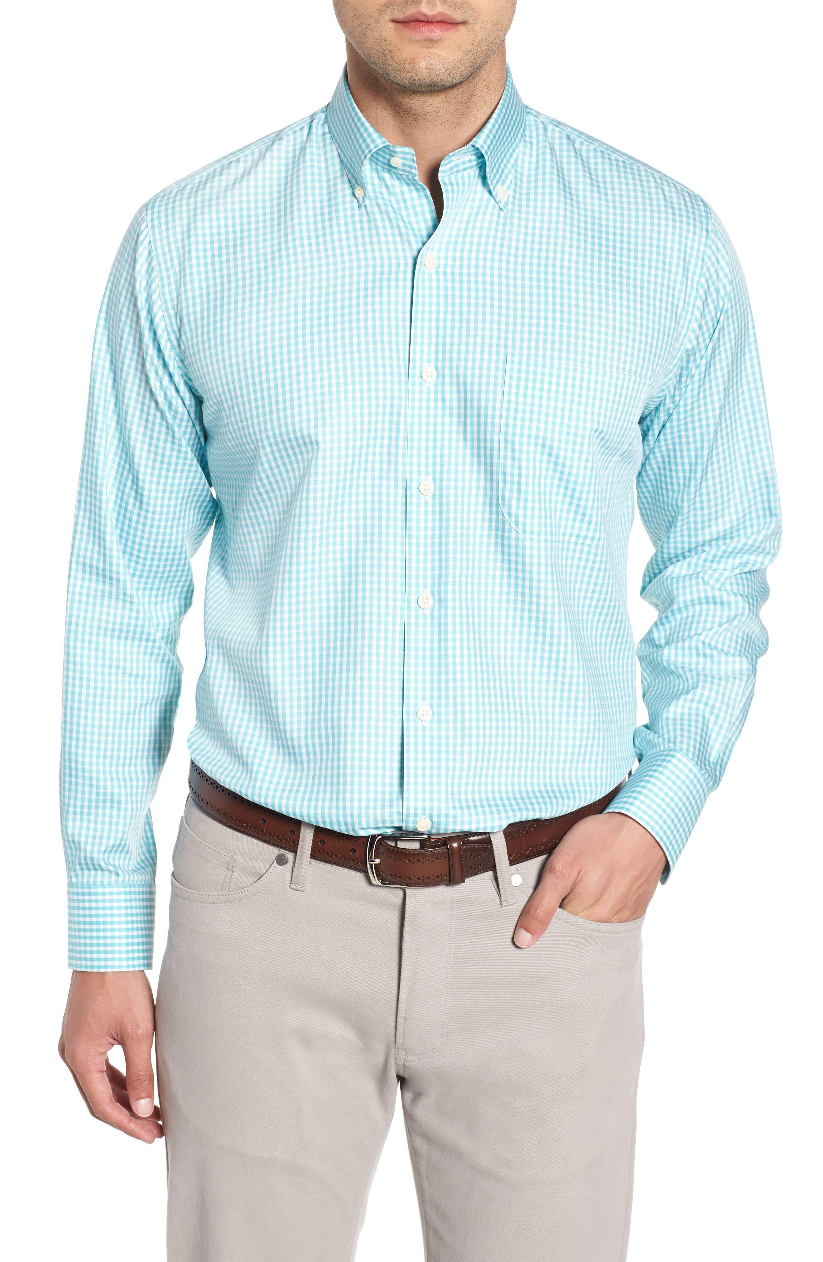 Crown Soft Northgate Gingham Sport Shirt,                         Main,                         color, Opal
