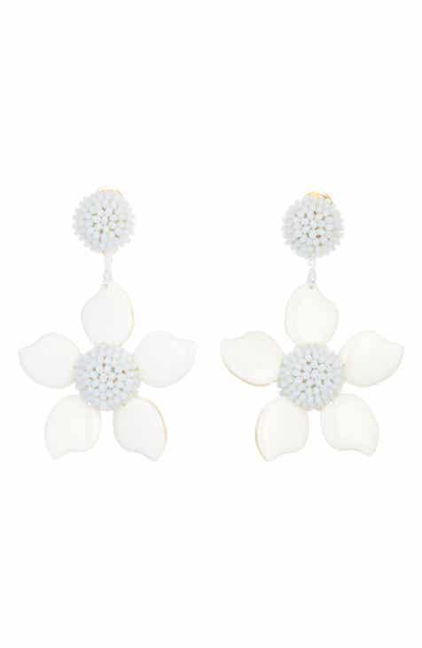 Floral earrings nordstrom oscar de la renta bold enamel flower drop earrings mightylinksfo