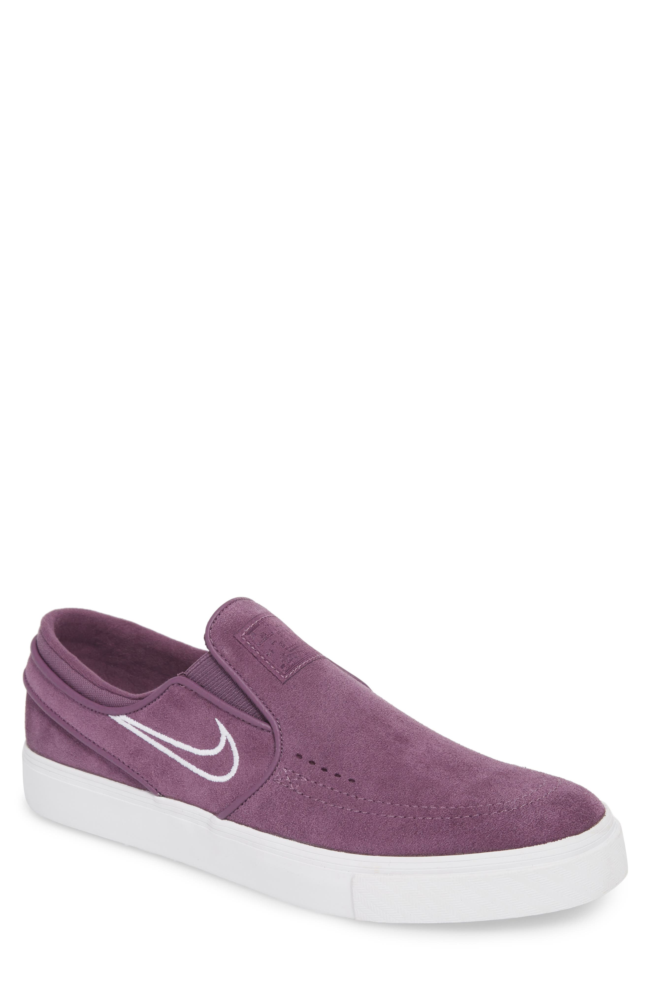 Zoom Stefan Janoski Slip-On,                             Main thumbnail 1, color,                             Pro Purple/ White/ Grey