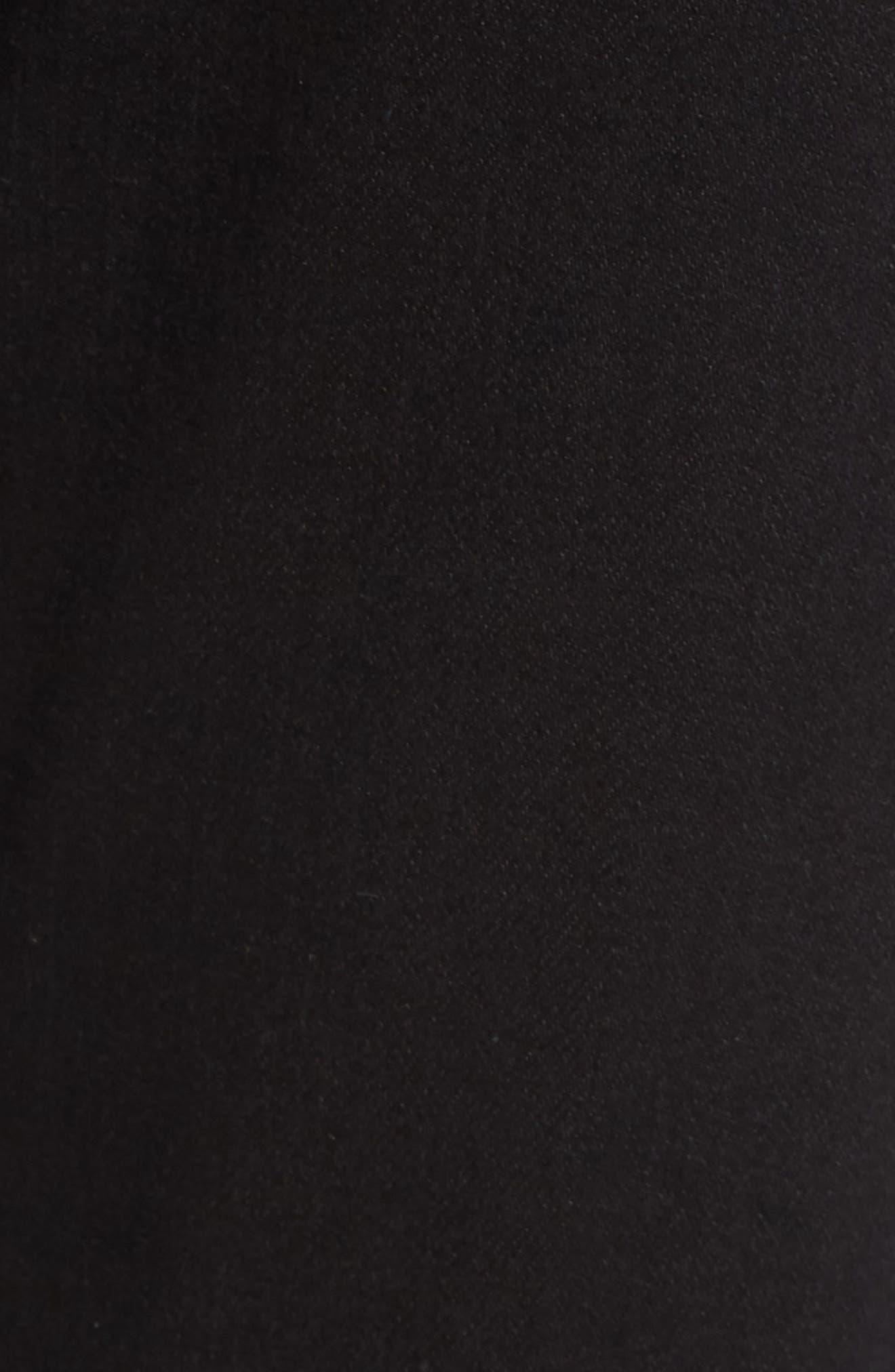 'The Farrah' High Rise Skinny Jeans,                             Alternate thumbnail 6, color,                             Overdyed Black