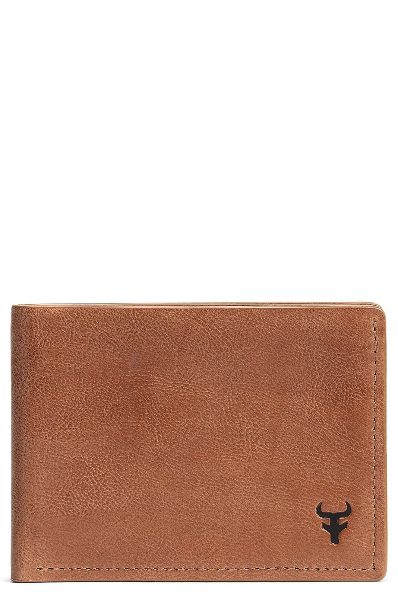 Canyon Super Slim Leather Wallet,                             Main thumbnail 1, color,                             Tan