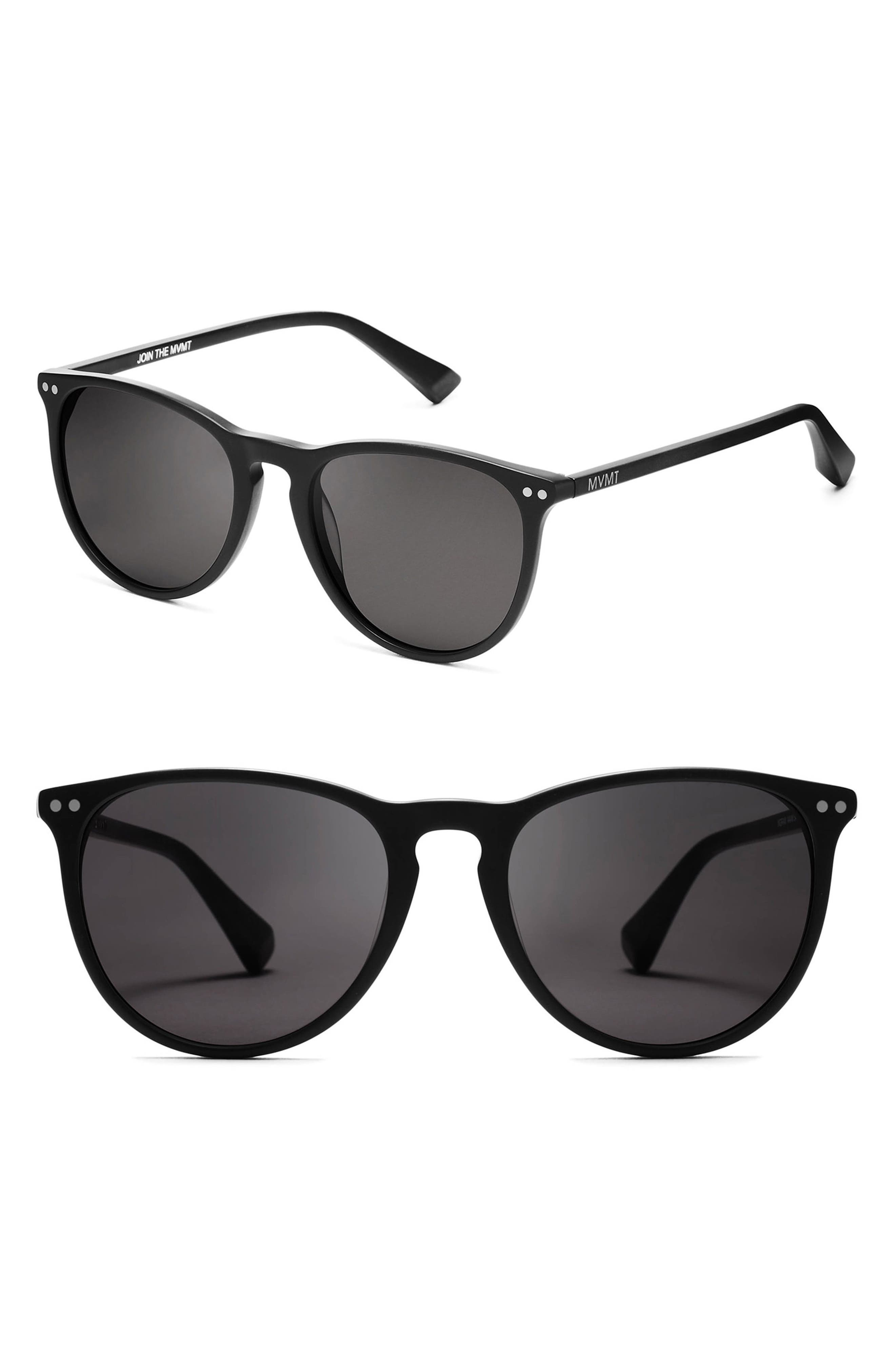 Ingram 54mm Sunglasses,                         Main,                         color, Matte Black