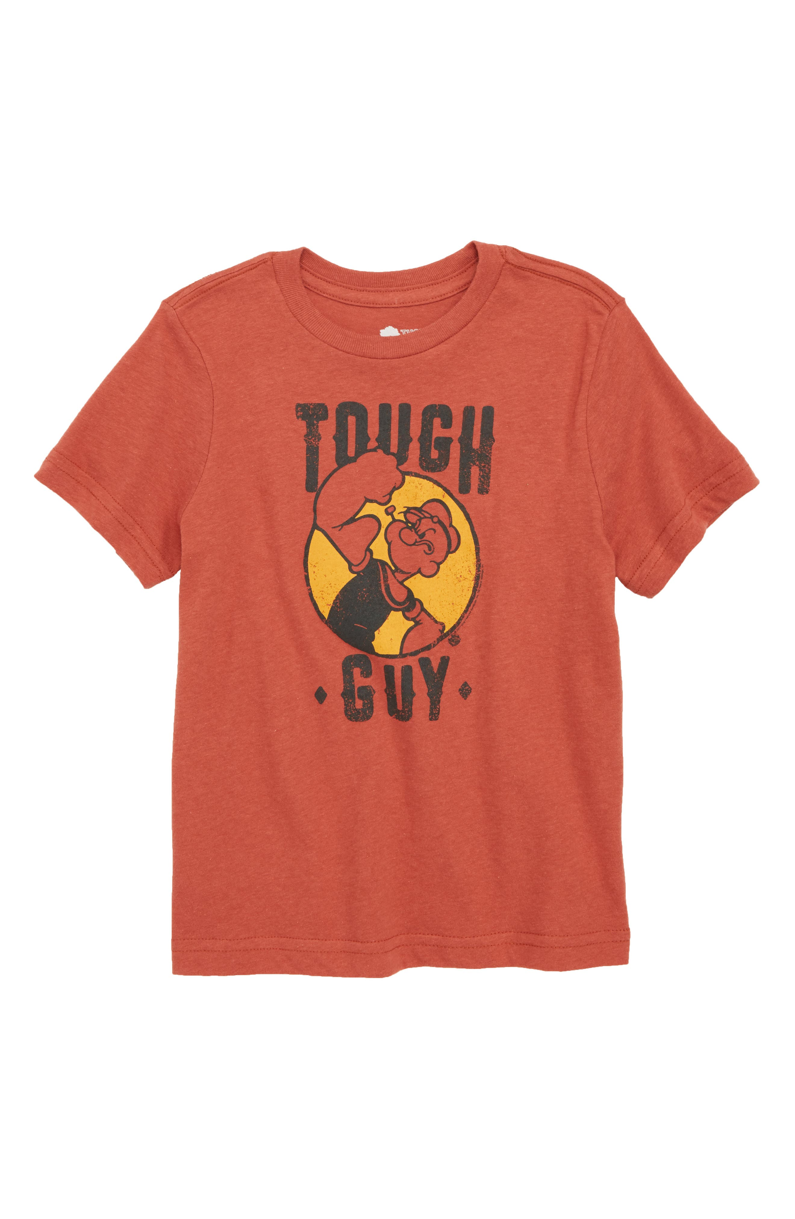 Graphic T-Shirt,                         Main,                         color, Red Ochre Heather Tough Guy