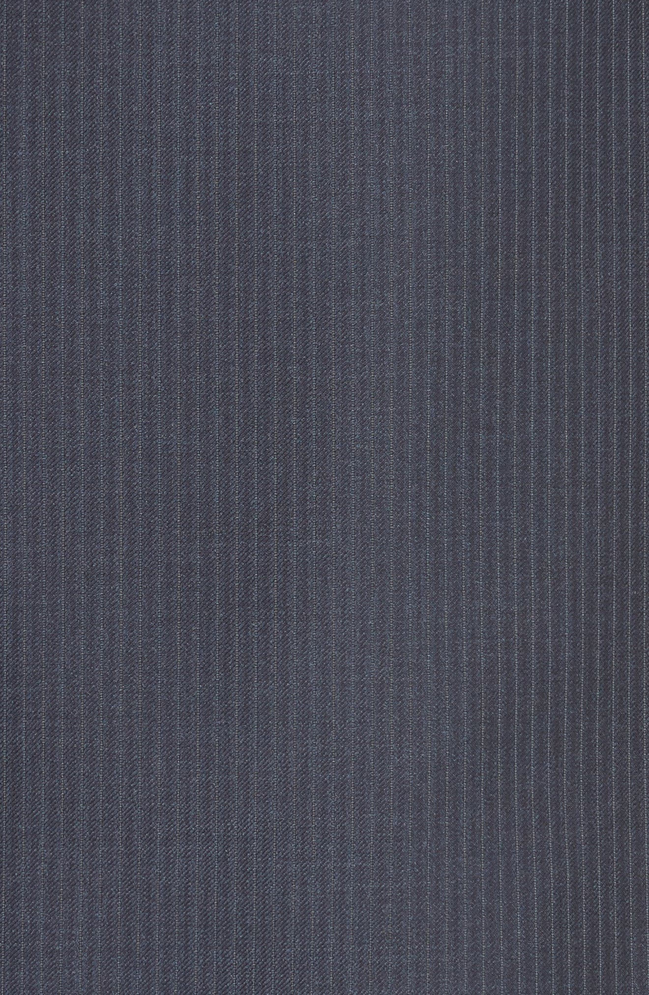 Classic Fit Pinstripe Wool Suit,                             Alternate thumbnail 7, color,                             Navy