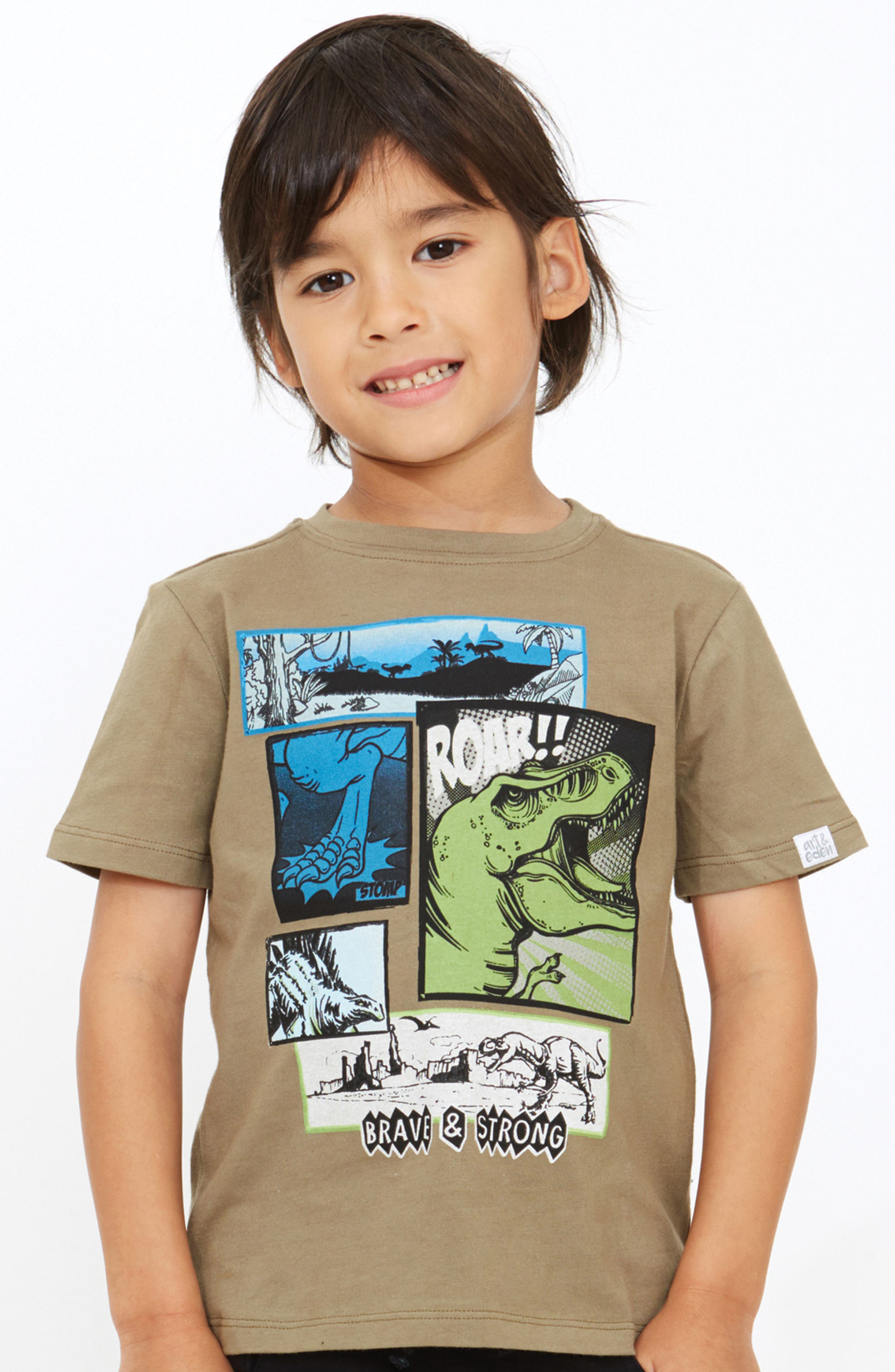 Joshua Organic Cotton T-Shirt,                             Alternate thumbnail 2, color,                             Olive Branch