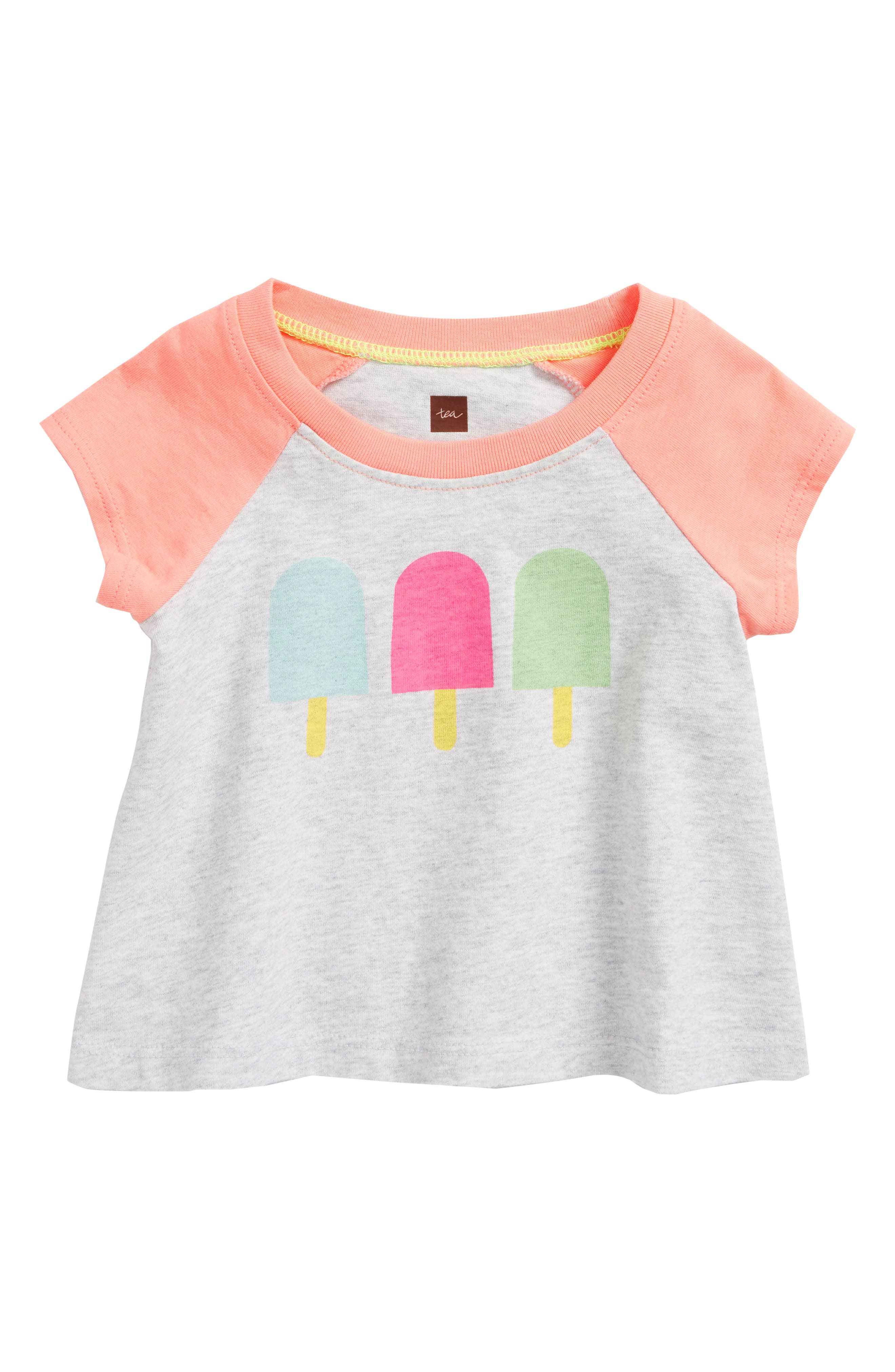 Popsicle Tee,                         Main,                         color, Light Grey Heather