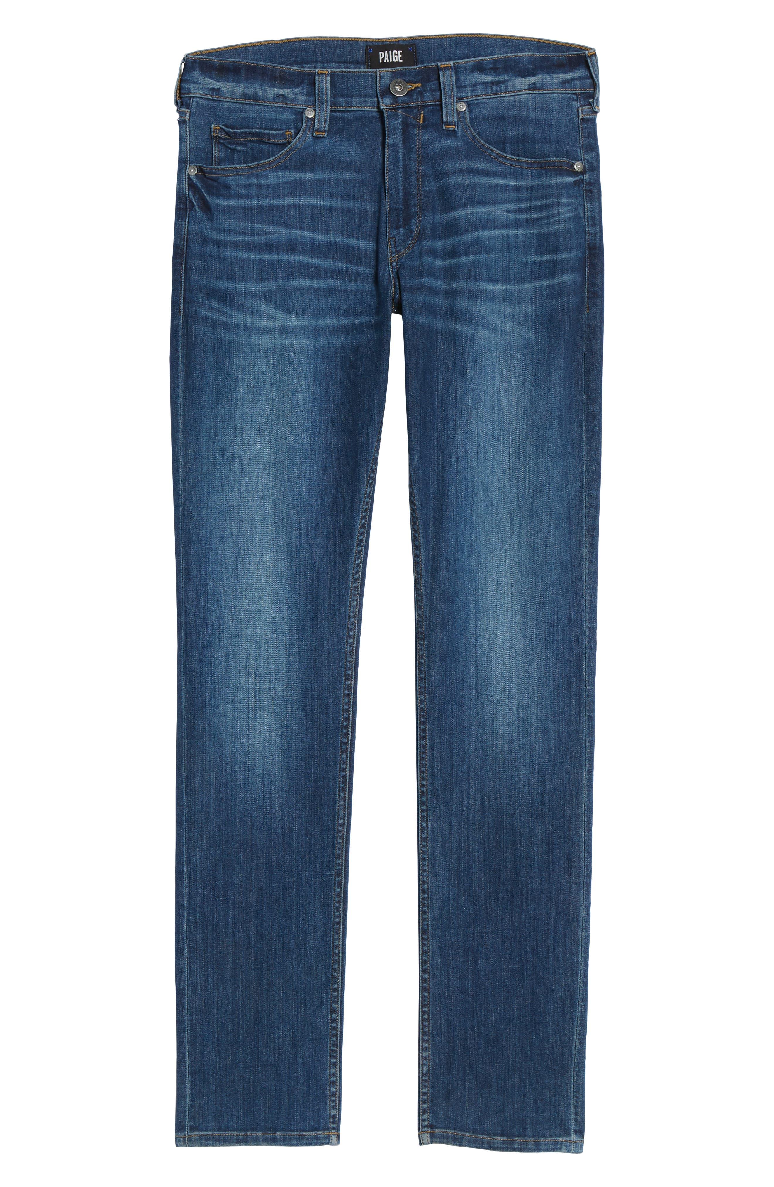 Transcend - Lennox Slim Fit Jeans,                             Alternate thumbnail 6, color,                             Ashbrook