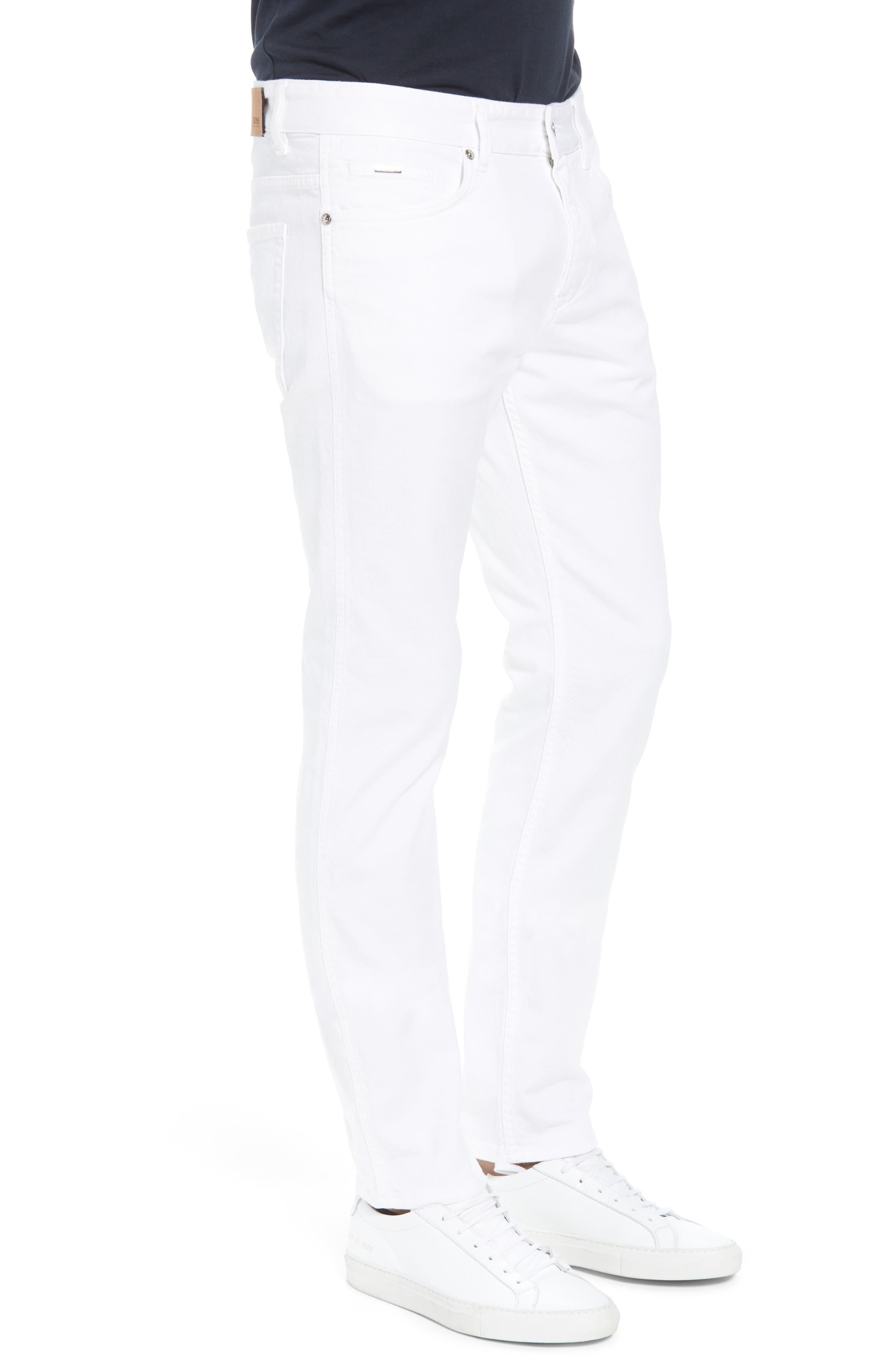 Delaware Slim Fit Jeans,                             Alternate thumbnail 3, color,                             White