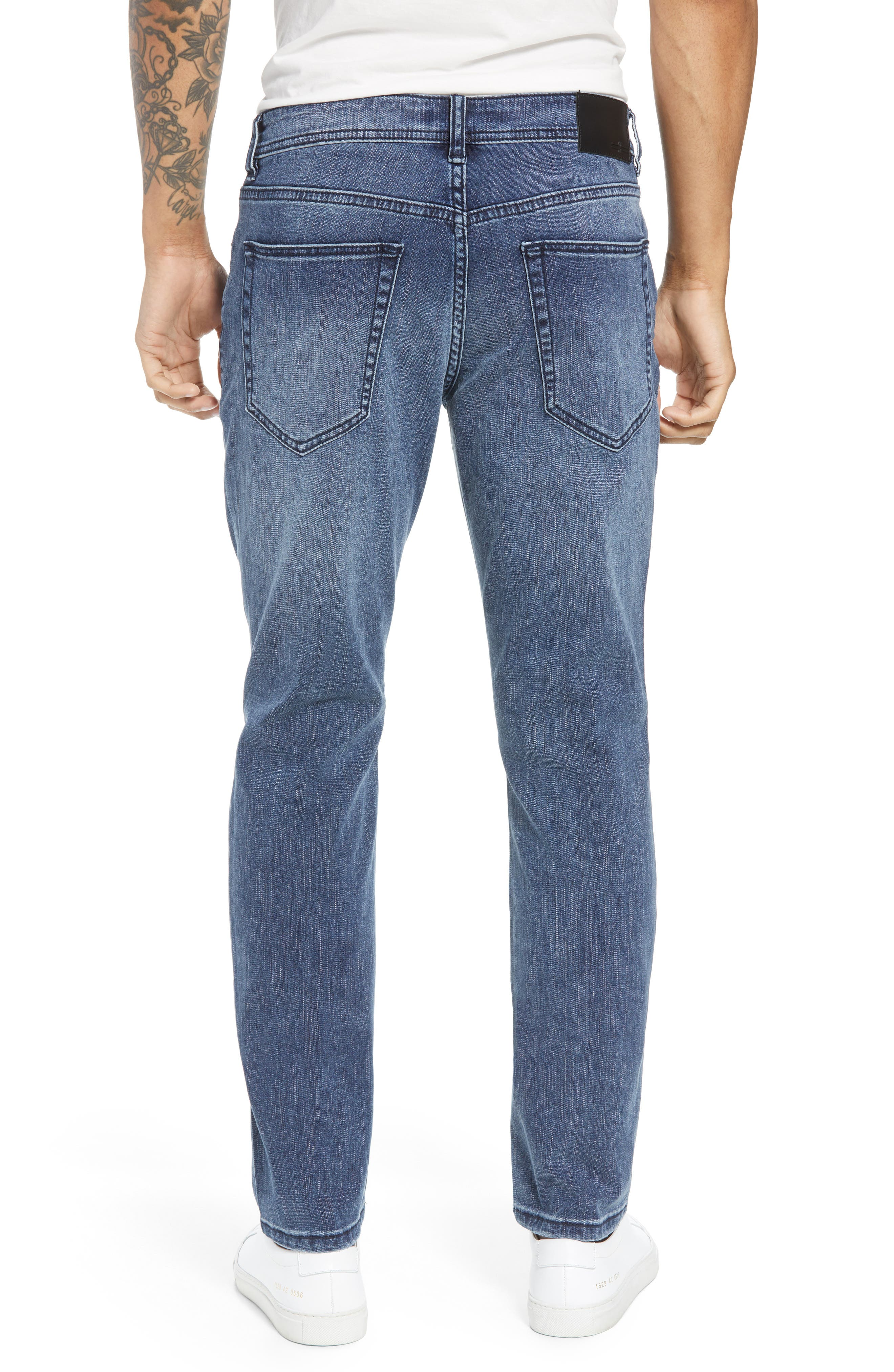 Jeans Co. Slim Straight Leg Jeans,                             Alternate thumbnail 2, color,                             Southaven Mid Blue