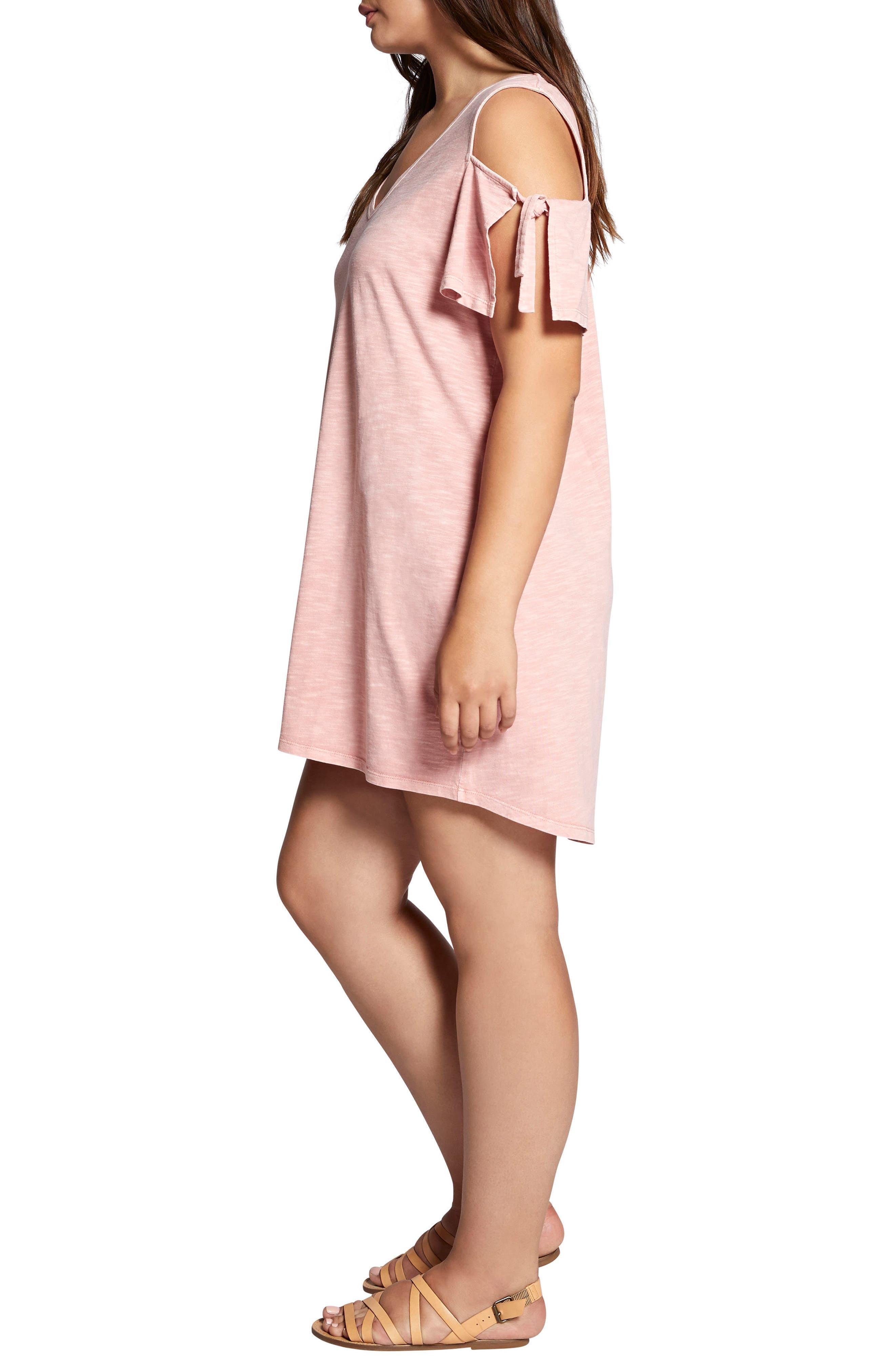 Lakeside T-Shirt Dress,                             Alternate thumbnail 3, color,                             Adobe