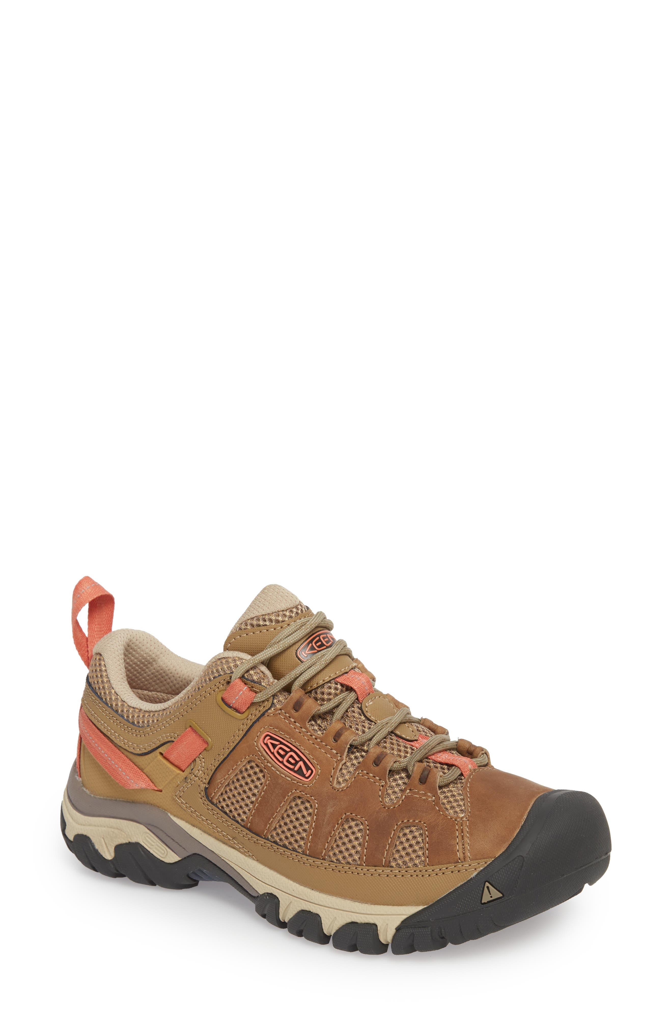 Targhee Vent Hiking Shoe,                             Main thumbnail 1, color,                             Sandy/ Cornstalk Leather
