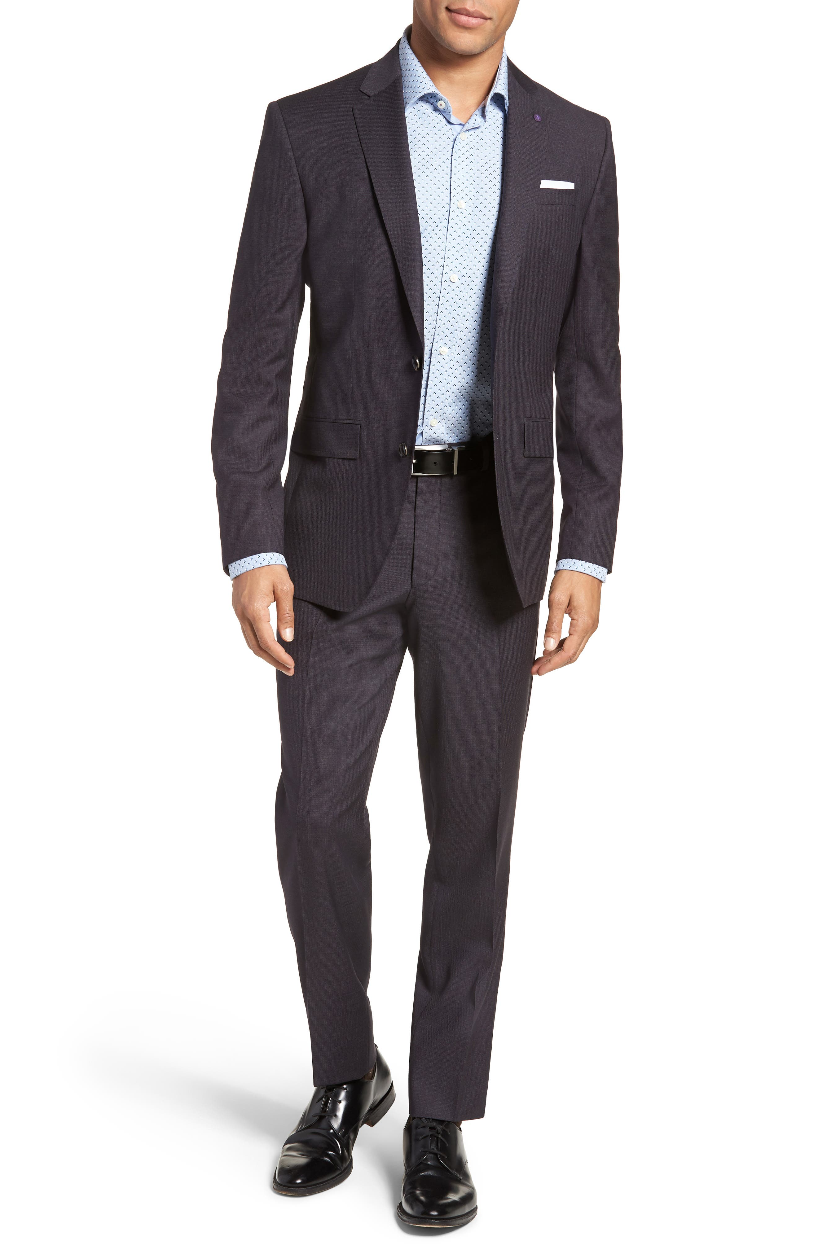 Jay Trim Fit Solid Wool Suit,                         Main,                         color, Brown Multi