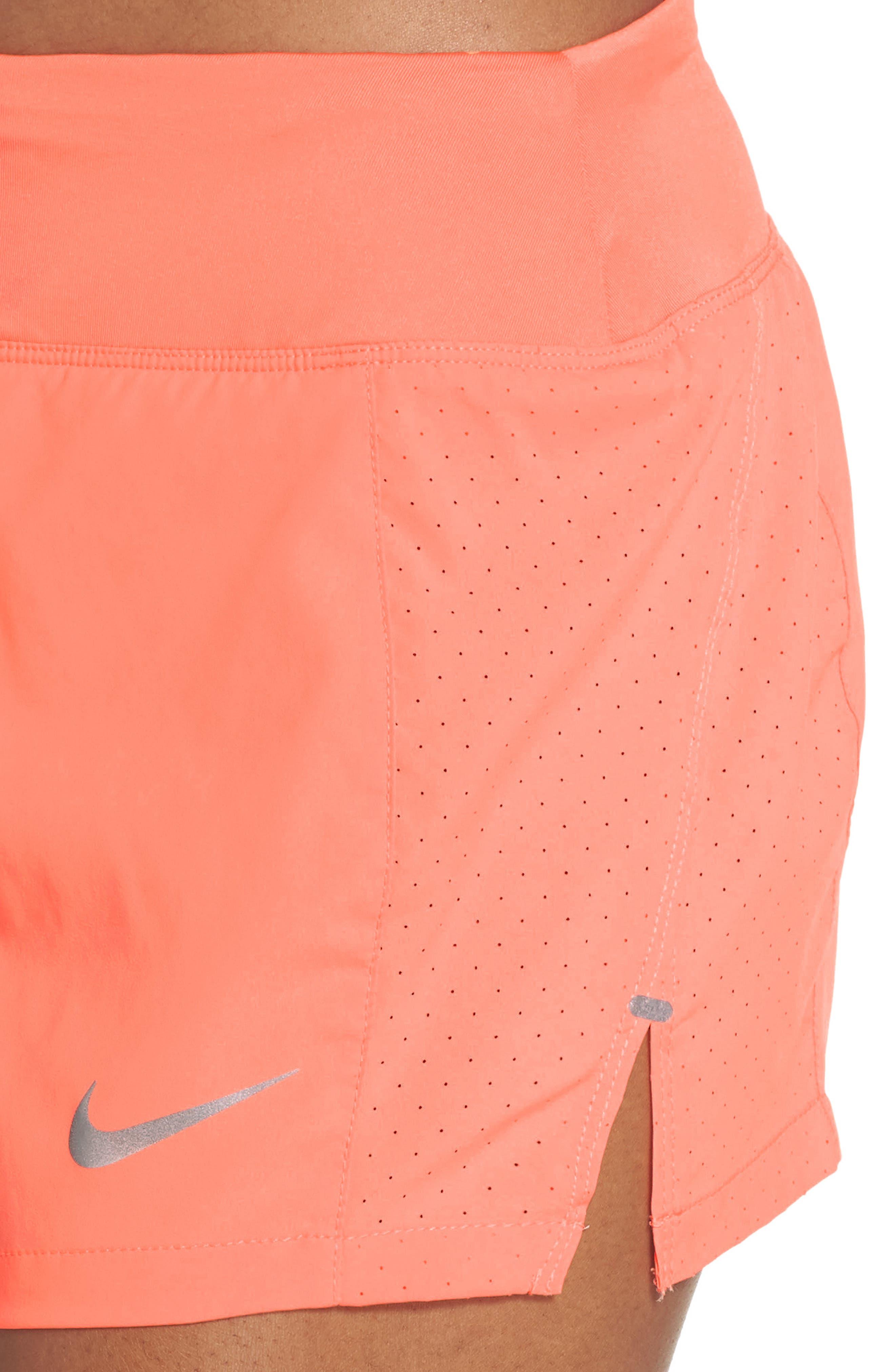 Dry Eclipse Running Shorts,                             Alternate thumbnail 4, color,                             Crimson Pulse