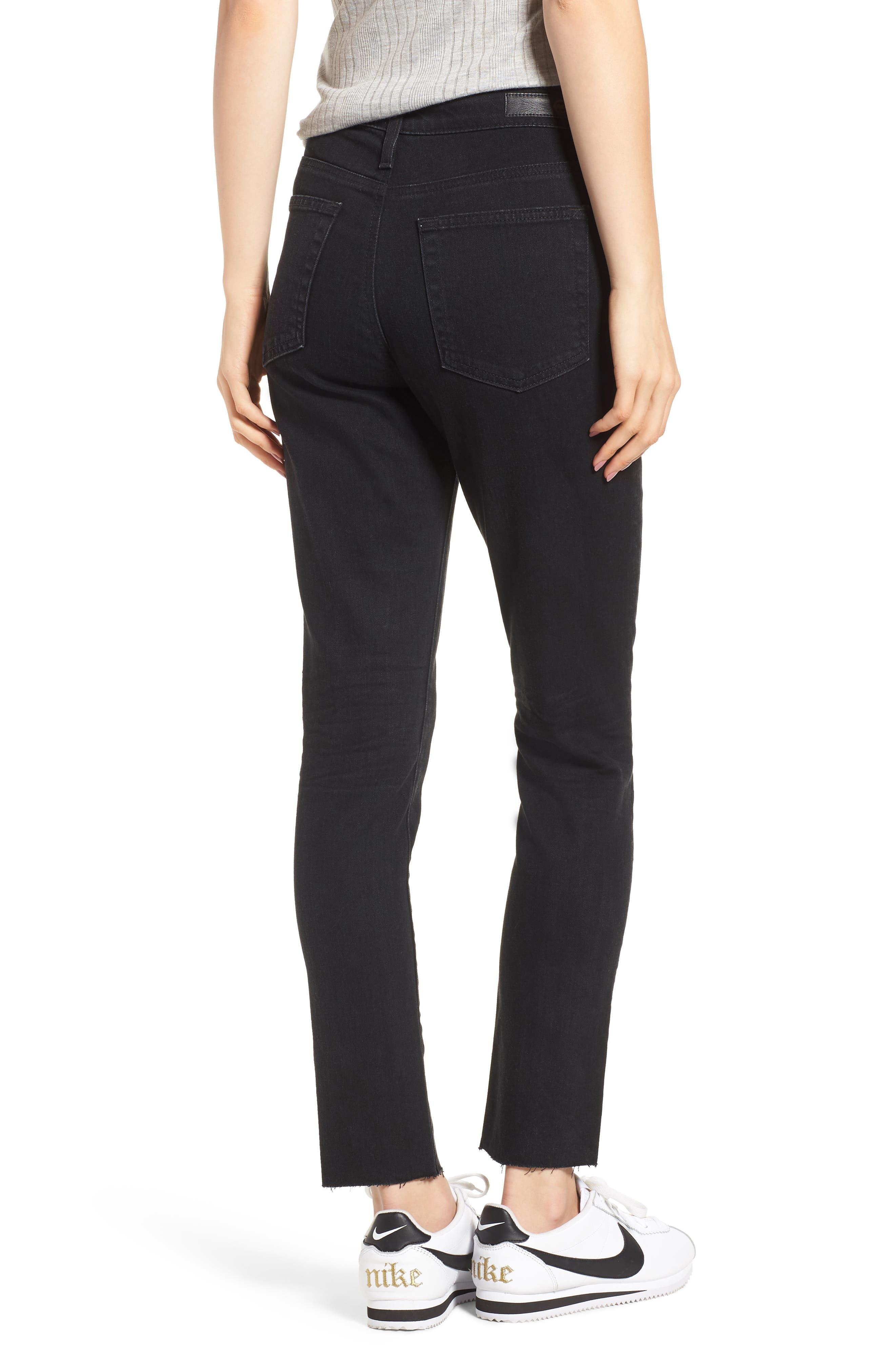 Sophia High Waist Ankle Skinny Jeans,                             Alternate thumbnail 2, color,                             1 Year Black Hawk