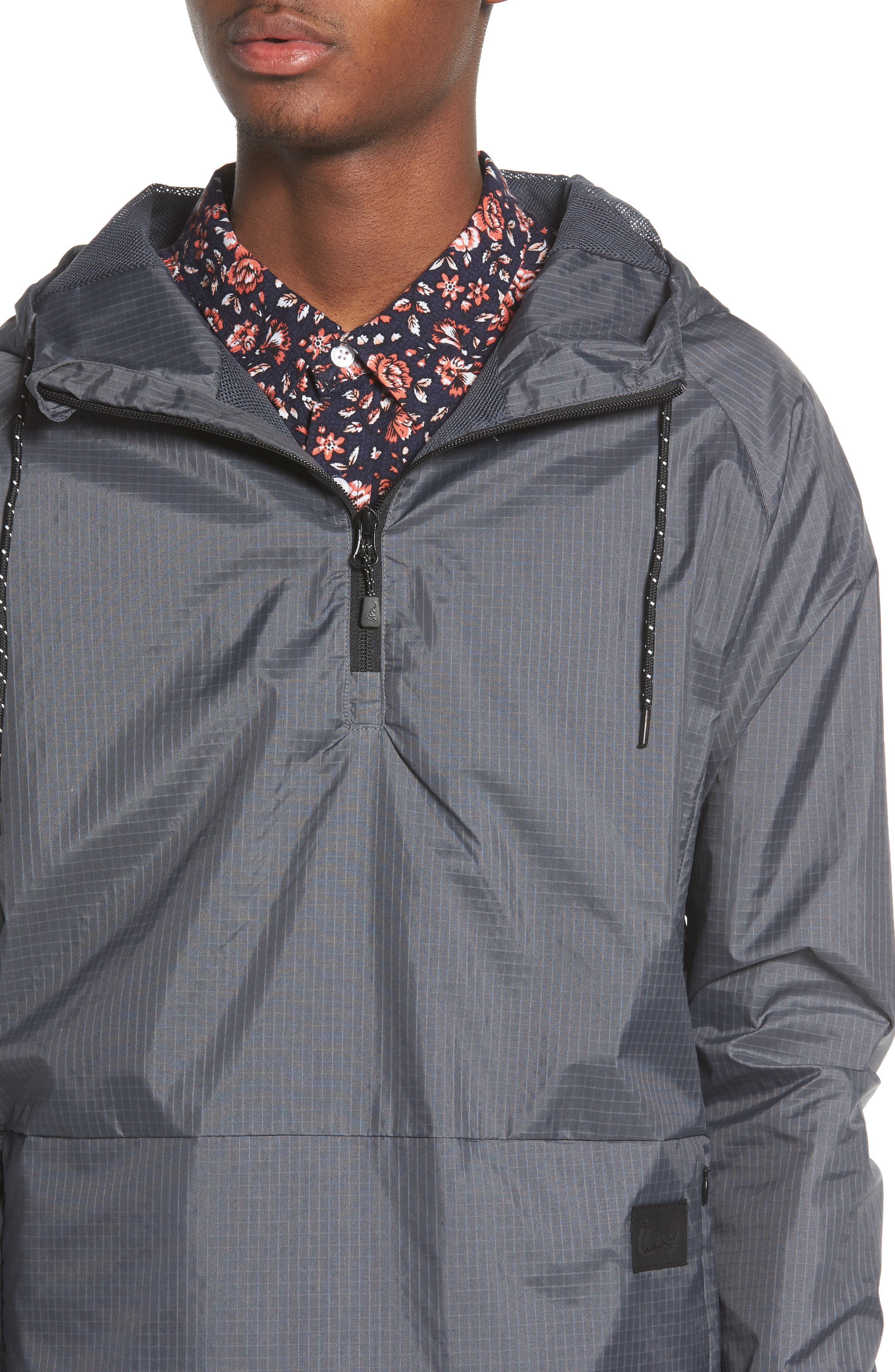 NCT Bezel Packable Anorak,                             Alternate thumbnail 4, color,                             Asphalt