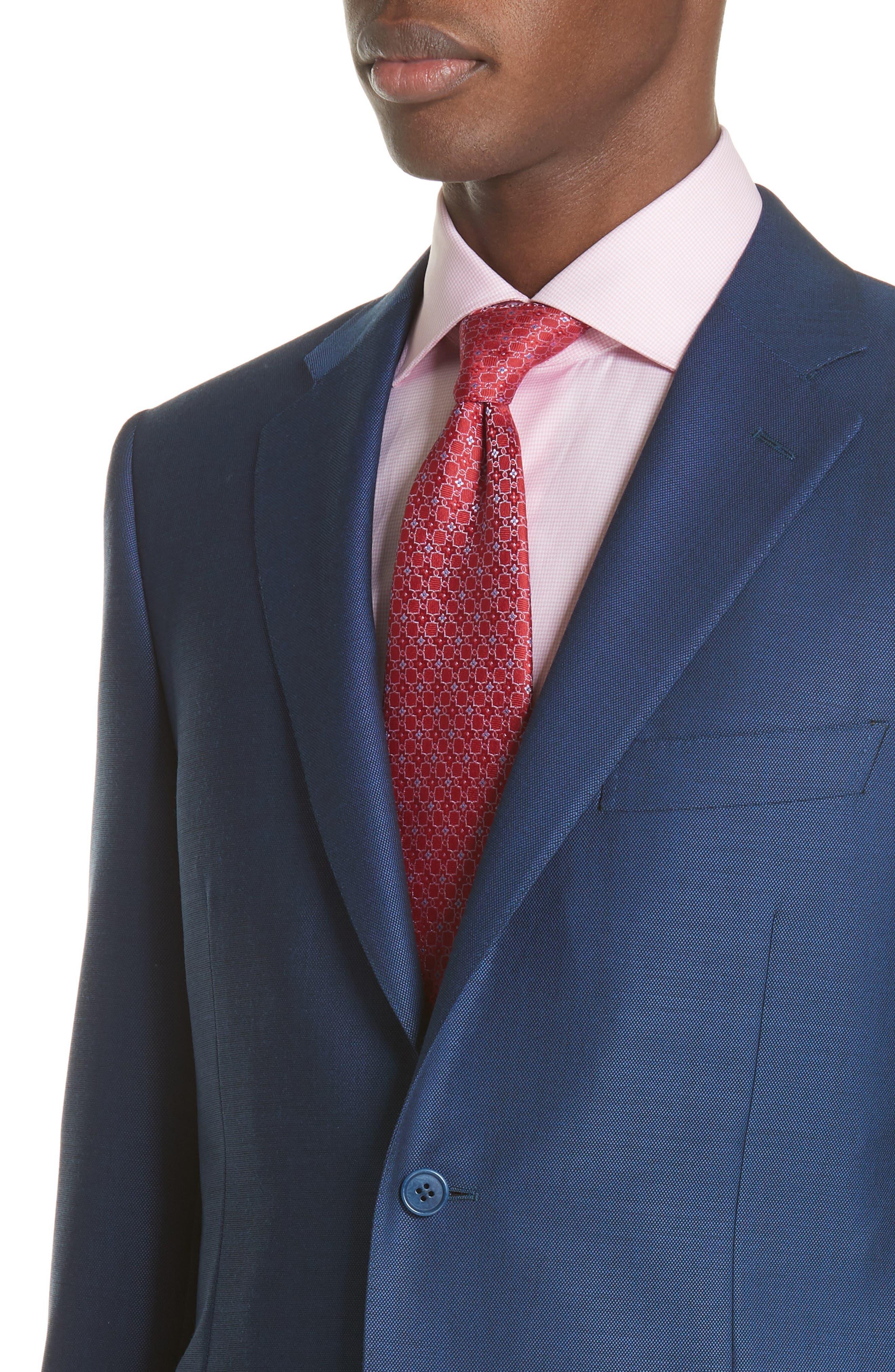 Classic Fit Solid Wool Suit,                             Alternate thumbnail 4, color,                             Blue