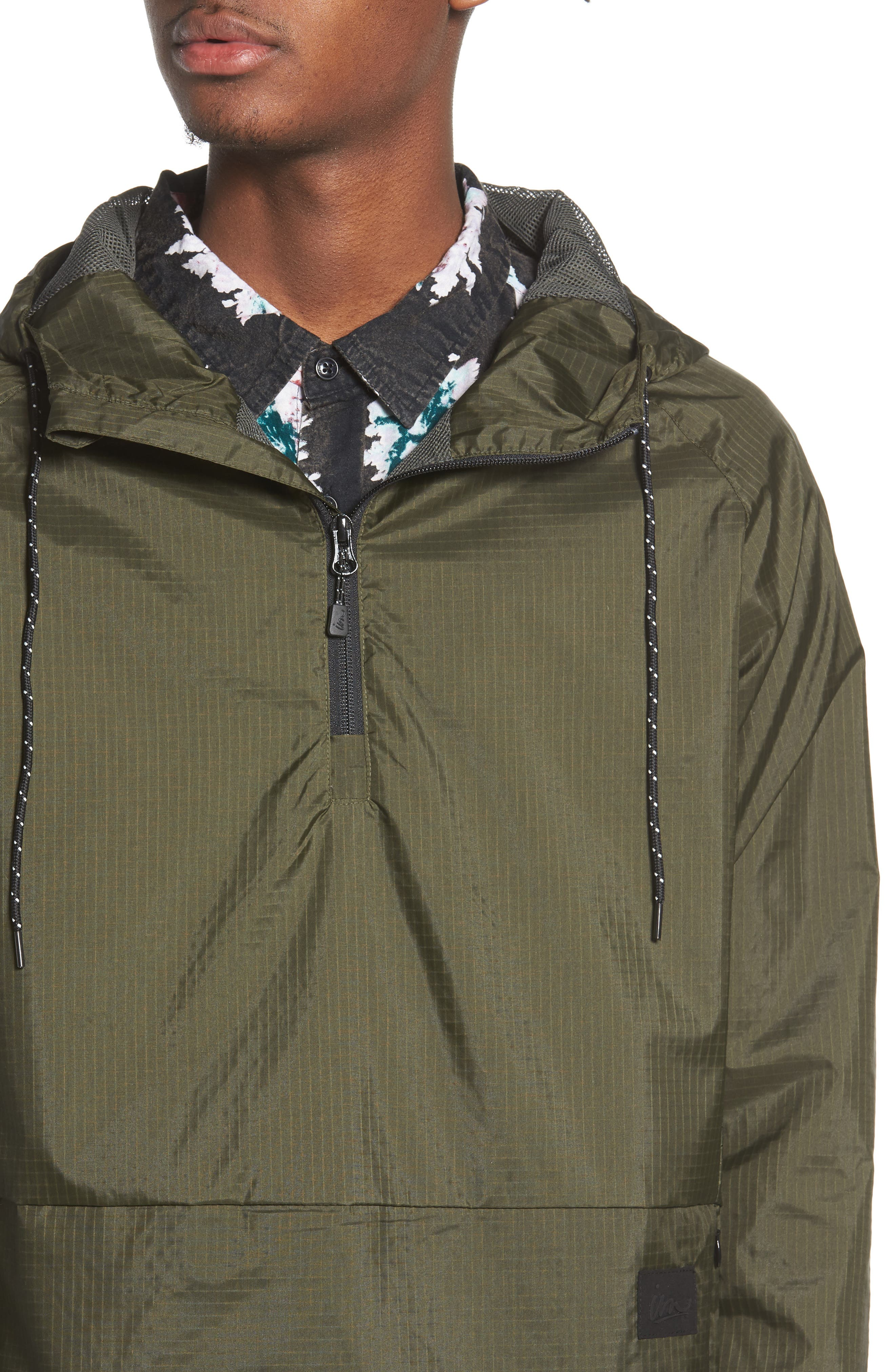 NCT Bezel Packable Anorak,                             Alternate thumbnail 4, color,                             Olive
