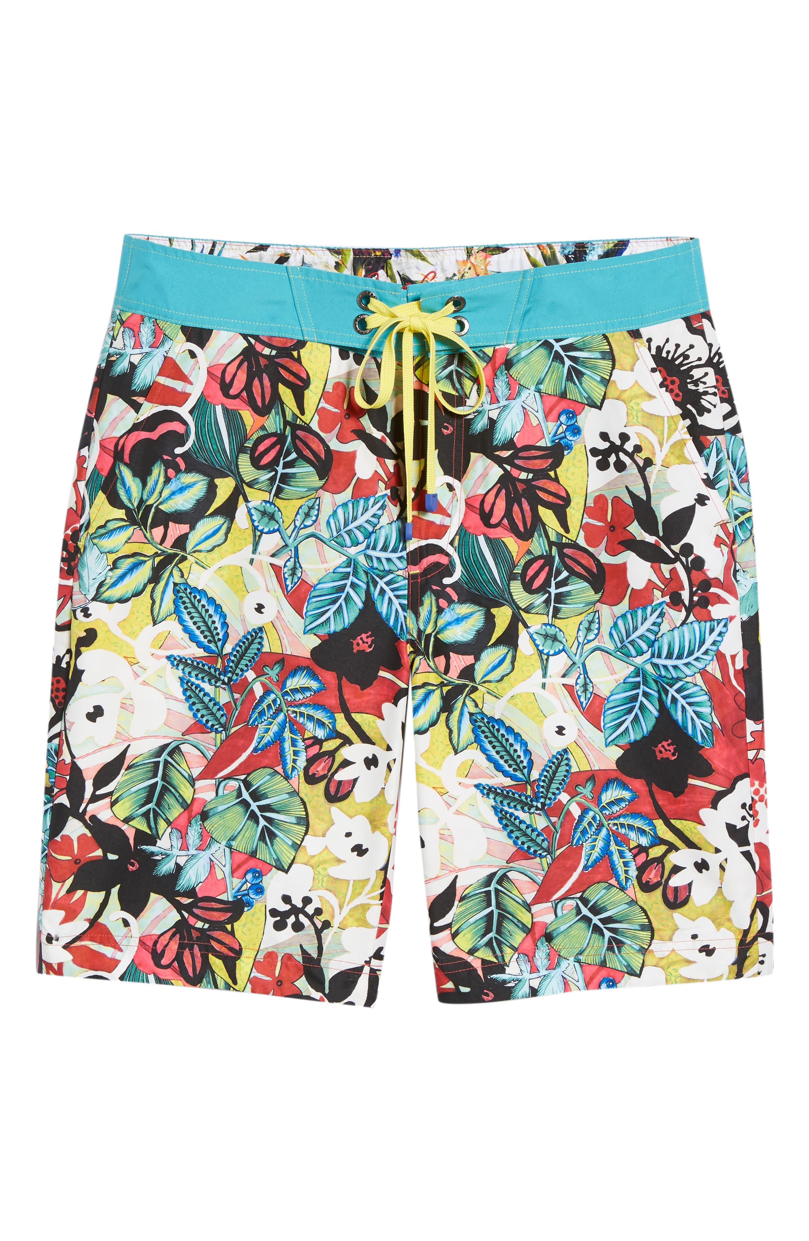 Barbarito Classic Fit Board Shorts,                             Alternate thumbnail 6, color,                             Multi